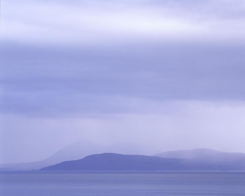 Weather, Applecross, Highlands, Scotland, blue, mesmerisingly beautiful, sombre, minimalism, overlapping, hills, rain, t photo