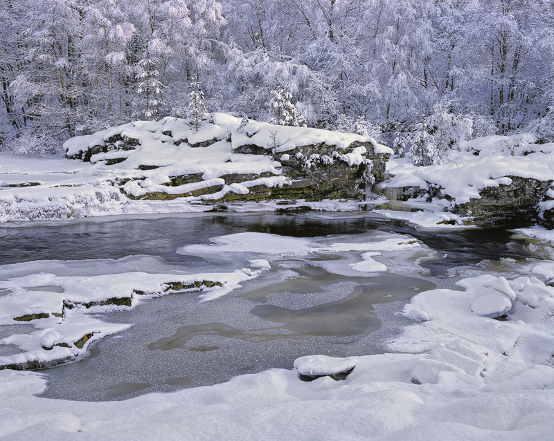 Winter Blues, Garve, Highlands, Scotland, wilderness, snow, frost, reflected, blue, glen, shivering, deep, cold, frosted photo