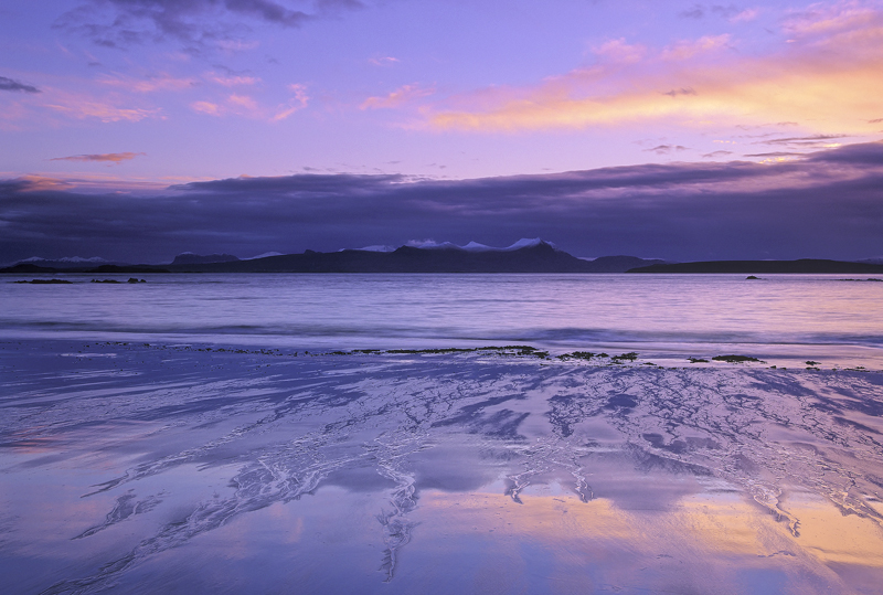 Winter Mellon, Mellon Udrigle, Ross-Shire, Scotland, beach, hamlet, Laide, beautiful, winter, sunrise, moody, snow, summ photo