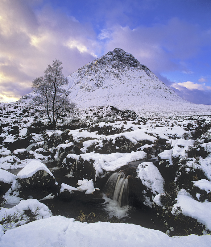 Winter Shroud Buachaille, Rannoch Moor, Glencoe, Scotland, Buachaille, winter, cloak, snow   photo