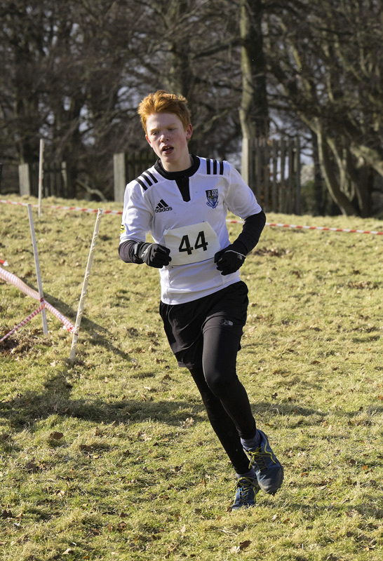 A midfield runner in the group C race eventually won by the amazing Harry Henrickssen from Lasswade.