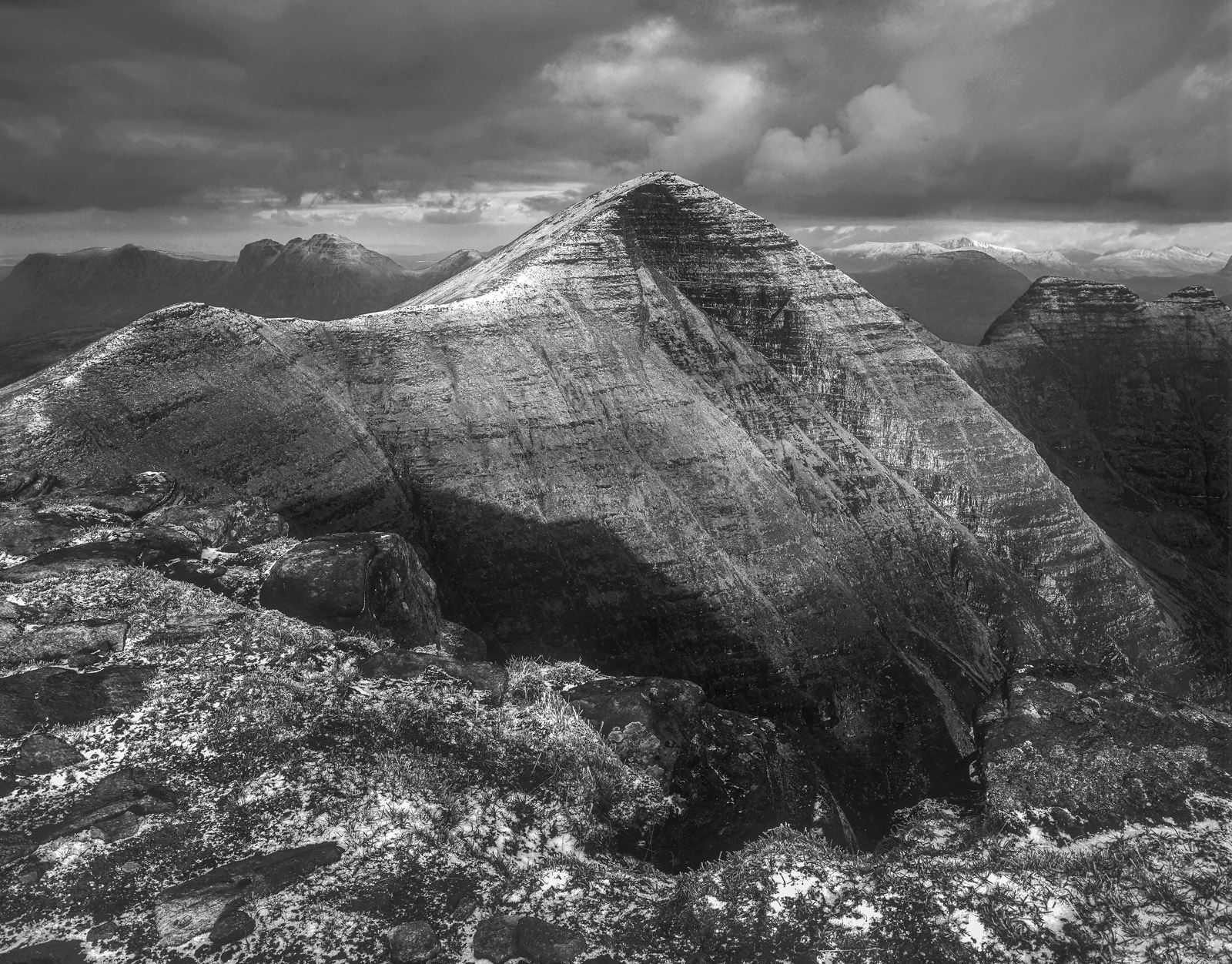 Beinn Alligin is a 3000 foot peak and in Scottish terms it's a giant. In terms of the rest of the world these would be...