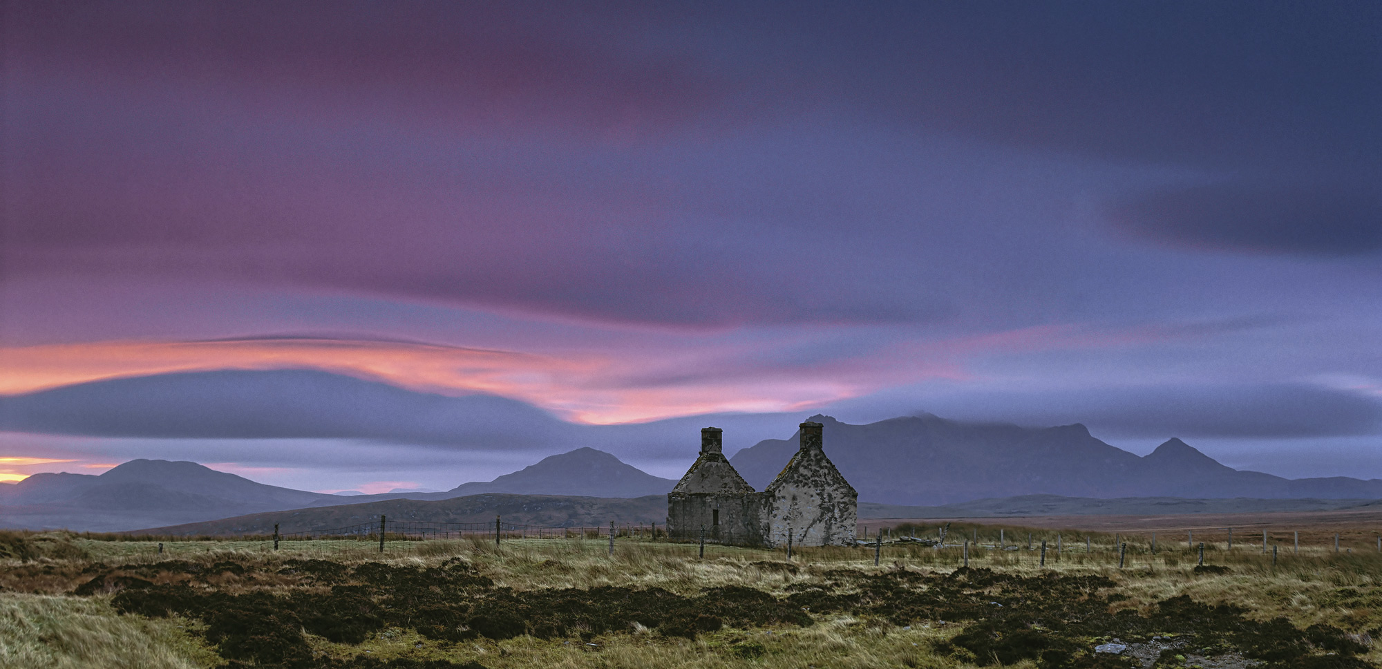 This old abandoned croft high on a moor overlooking the outline of Ben Loyal hasa wonderful feeling of remoteness this is greatly...