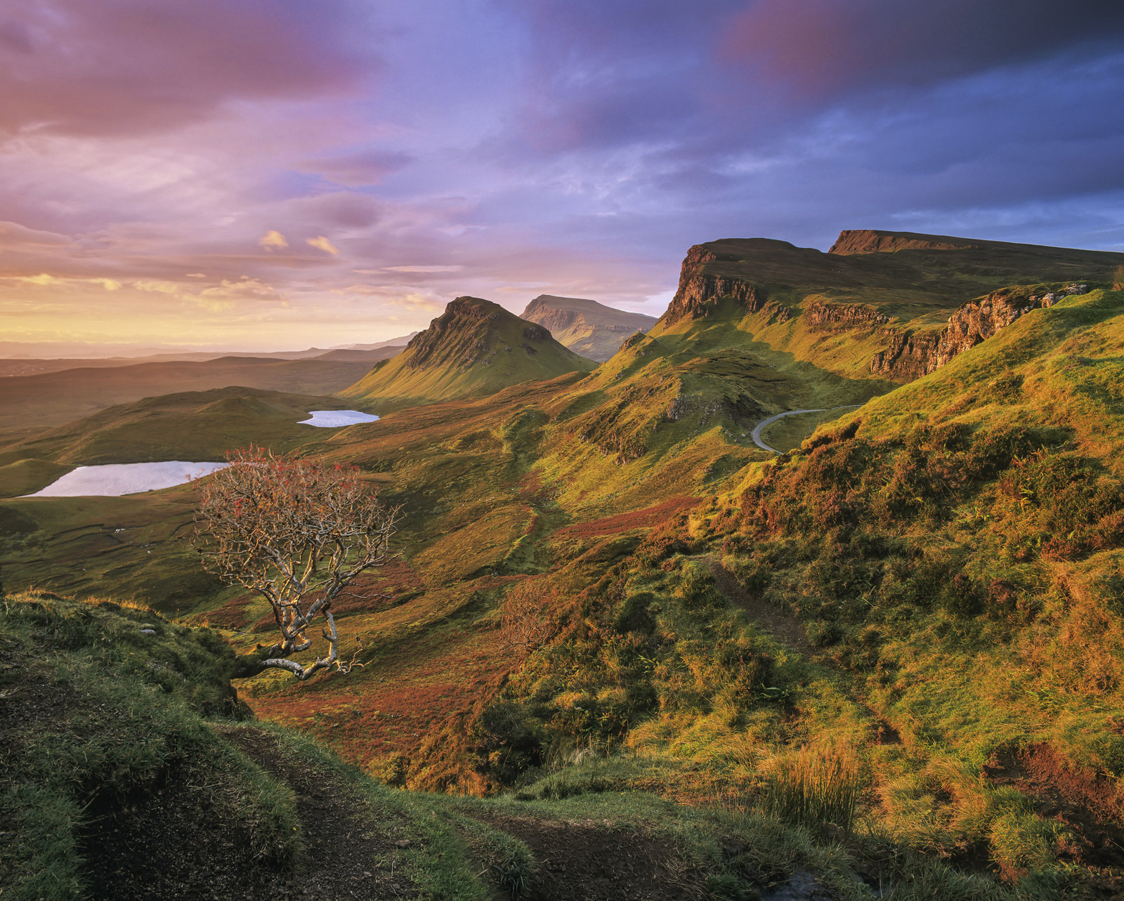 Taken on a recent workshop I was running, this turned out to be just about the most magnificent autumn sunrises at the Quiraing...
