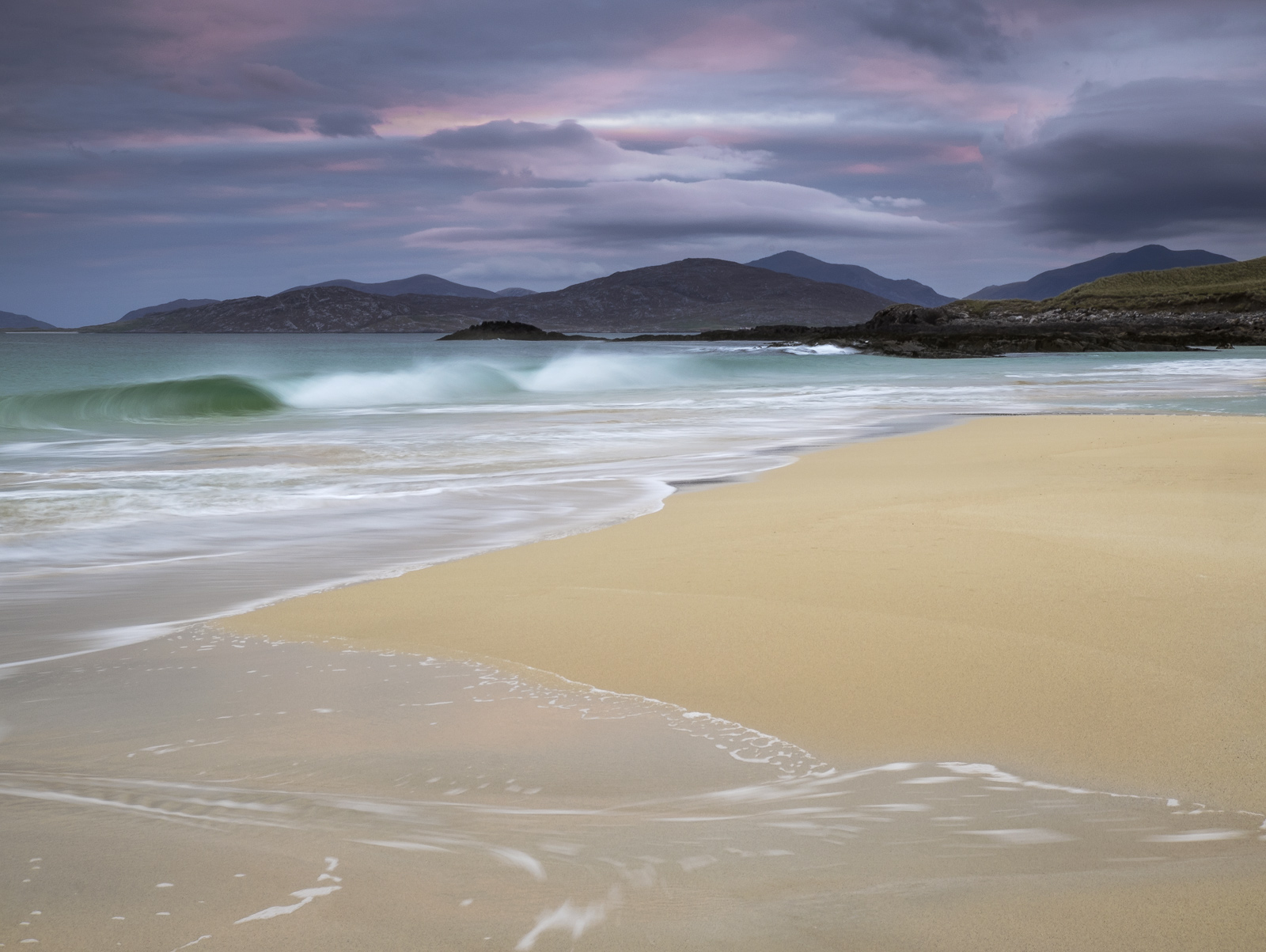 Probably my favourite beach in the UK, Traigh Mhor on the west coast of Harris has a gorgeous unblemished coarse grained orange...