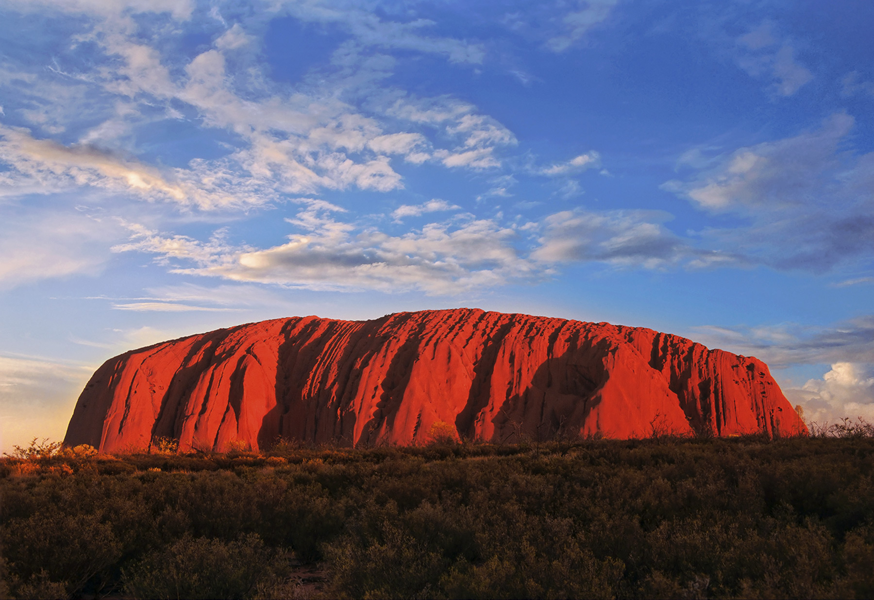 Ayers Rock, Ulhuru, Red Centre, Australia, scarlet, iconic, slab, rock, monolith, visitors, trek, summit, evening, sunse, photo