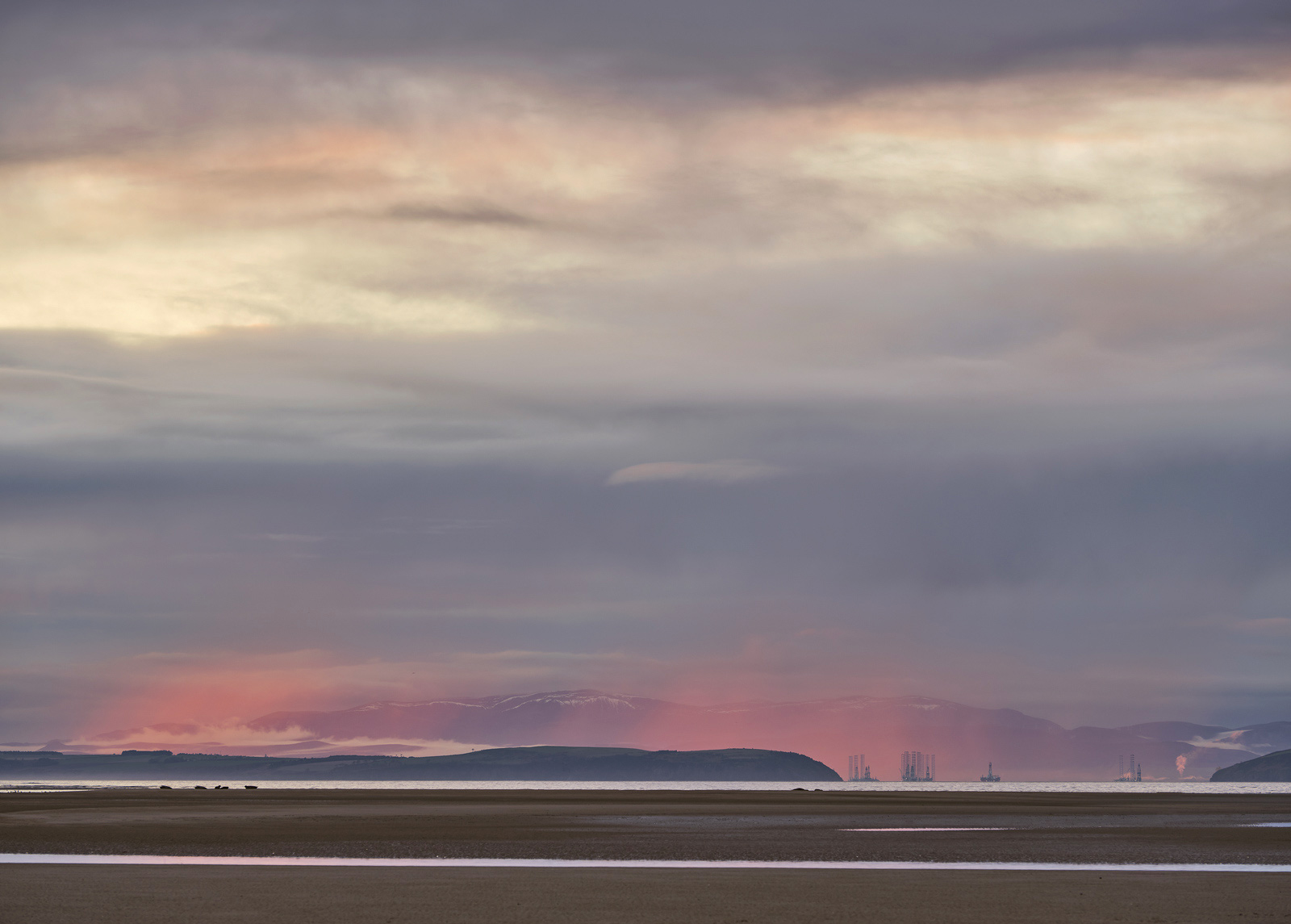 At low tide in Findhorn, the beach is uncovered to an epic extent and the seals that tour the Moray Firth haul themselves out...