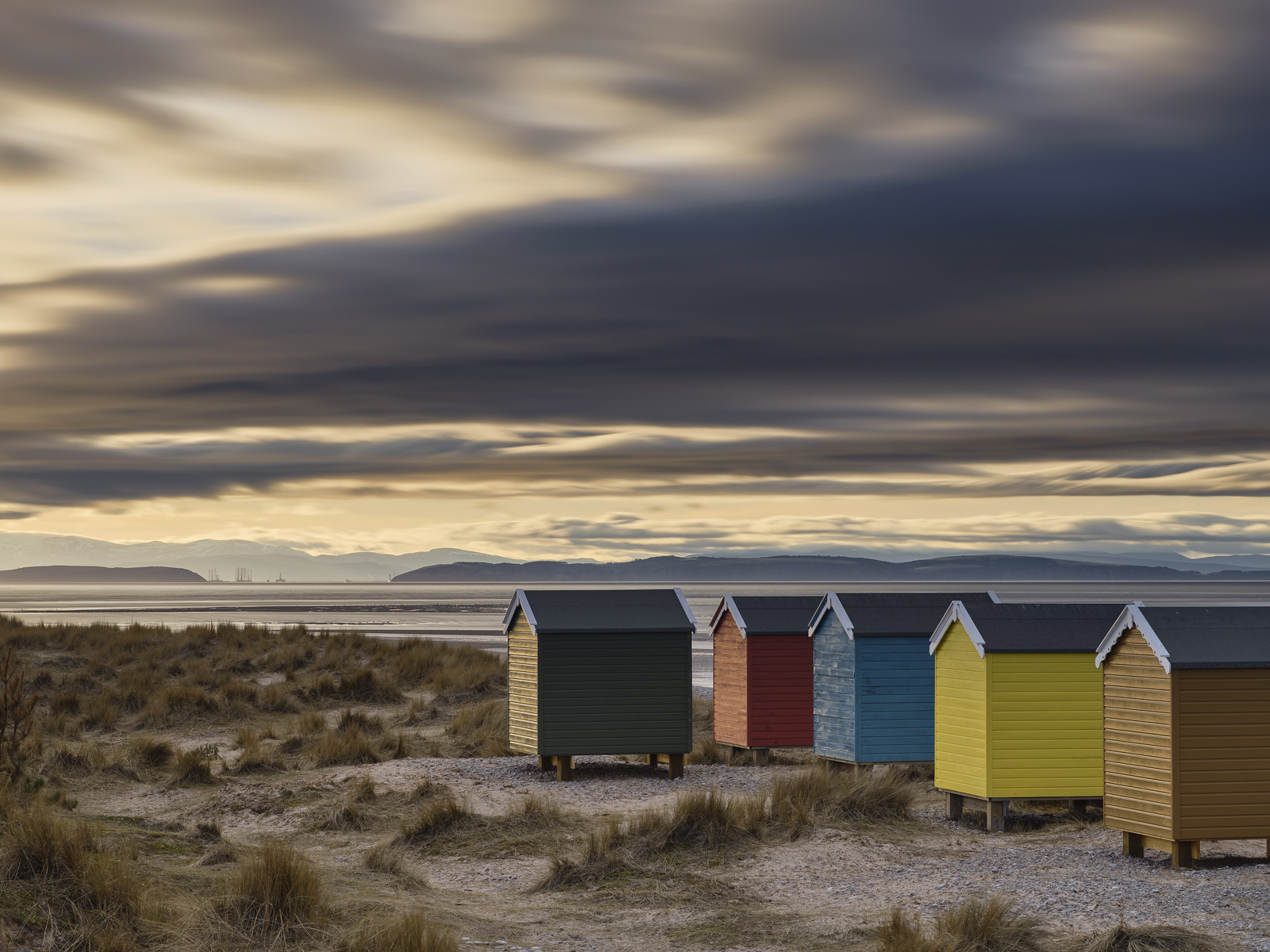 The Findhorn Beach Huts are a prime example of location location trumping build quality.  Frankly these are little more than...
