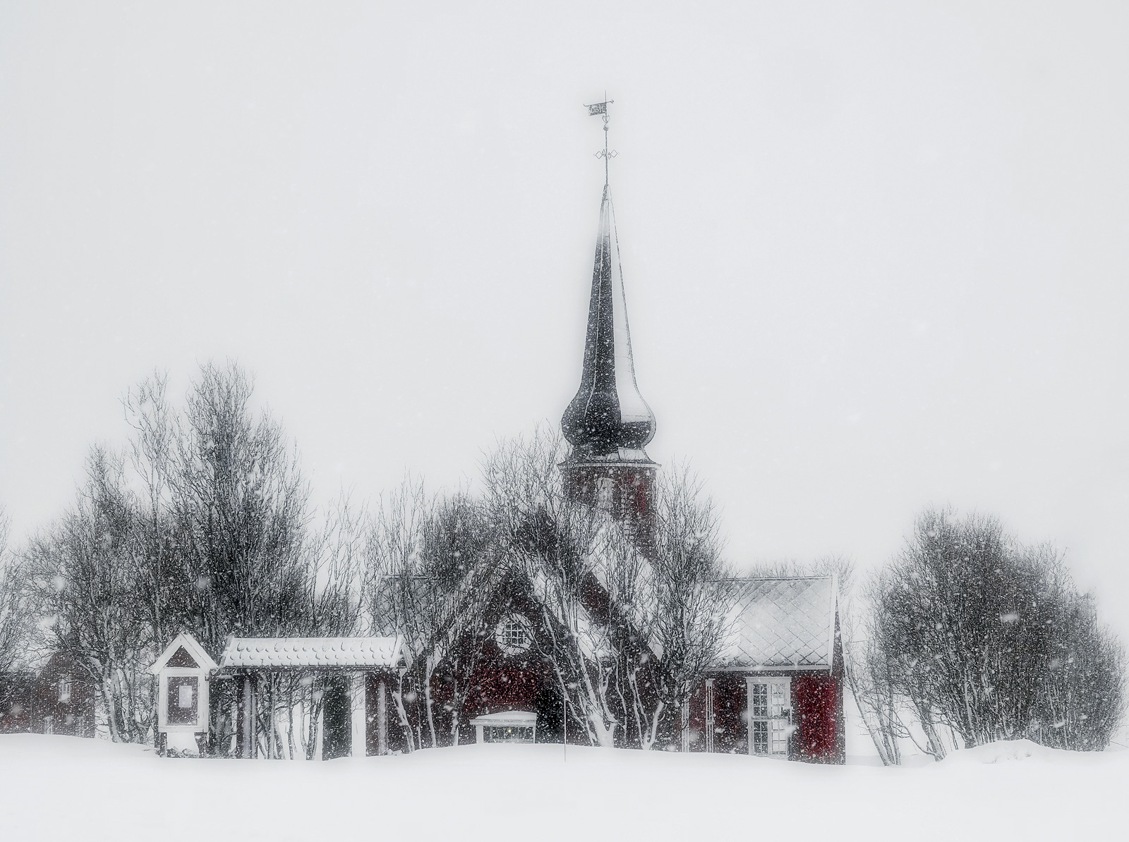 Flakstad has this lovely wee red Russian style church close to it's beach.  It looks pretty photogenic at anytime but I...