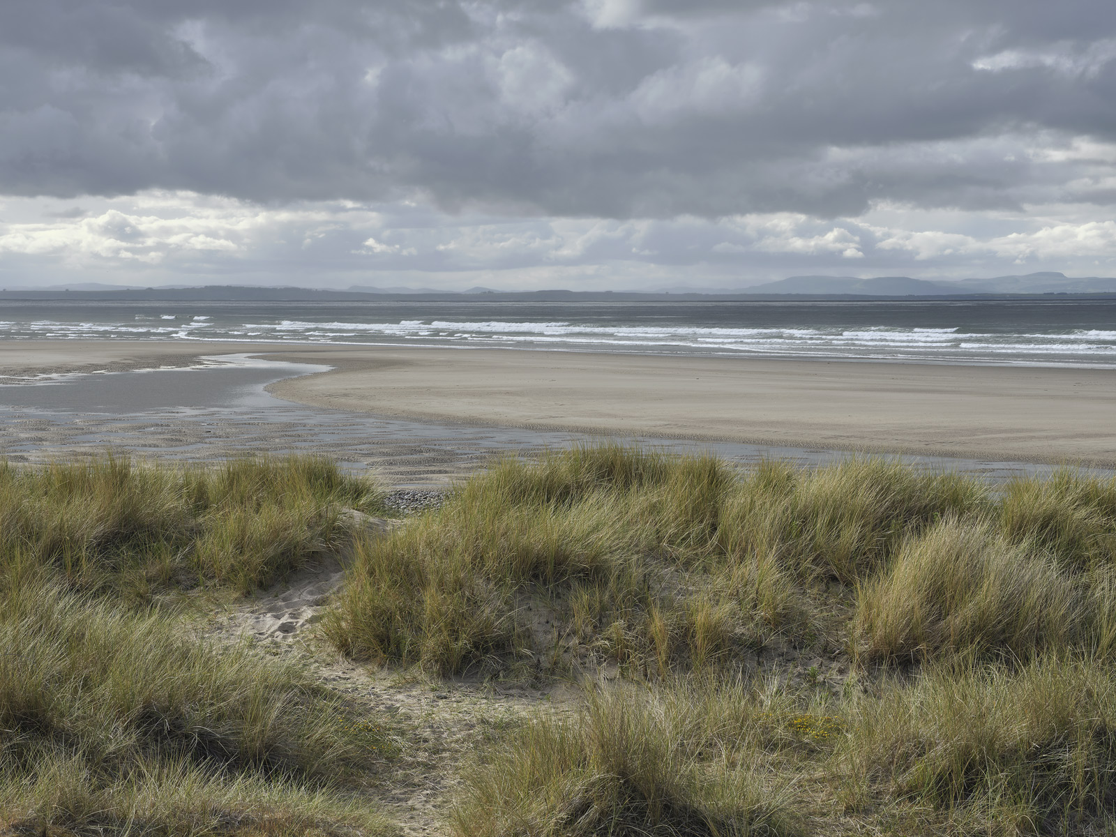 Blowing in the Sand, Findhorn, Moray, Scotland, low tide, view, bay, local, beach, dunes, sea, sole  , photo