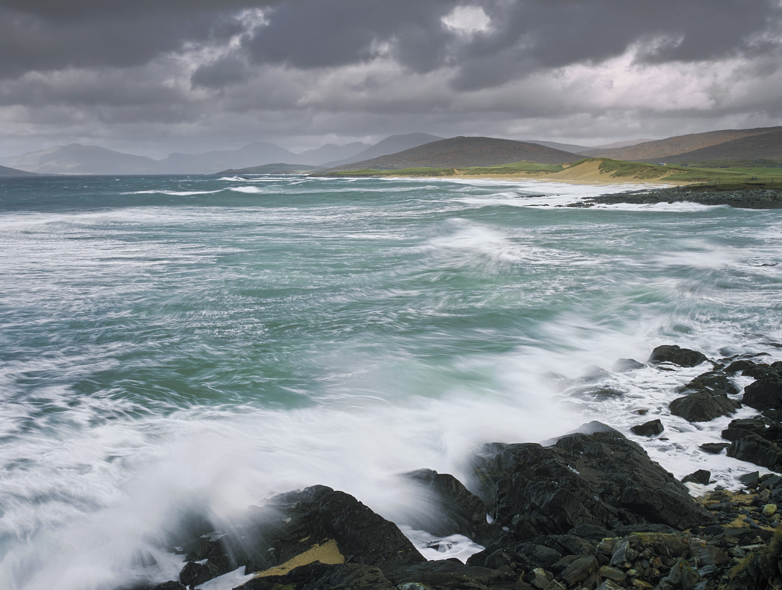 Although it was a fine morning with patchy sunshine the wind was fairly screaming and the sea fairly boiling with rage....