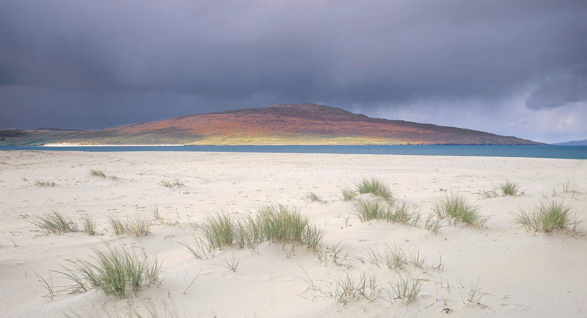 One of the most gorgeous beaches on Harris in the western Hebrides.  It gets the full brunt of the Atlantic weather which slams...