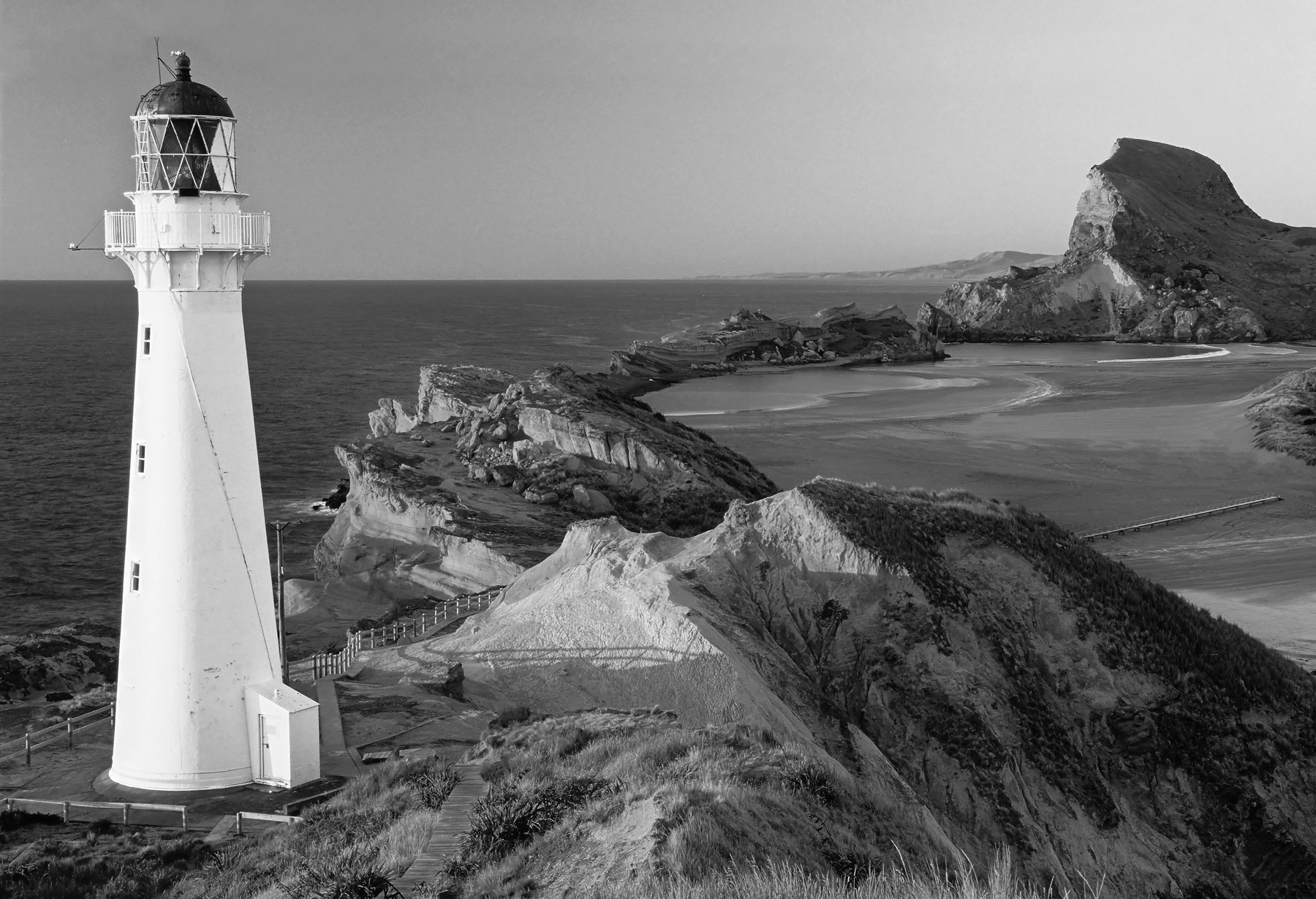 This beautiful white tower of a lighthouse is one of few I have encountered that doesn't need a shift lens to correct for the...