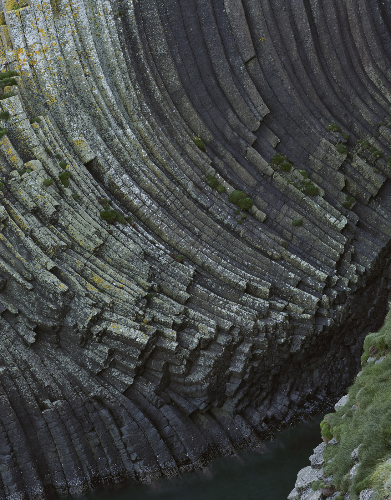 Perhaps the most remarkable of all the basalt formations on the remarkable island of staffa is right by the boat landing point...