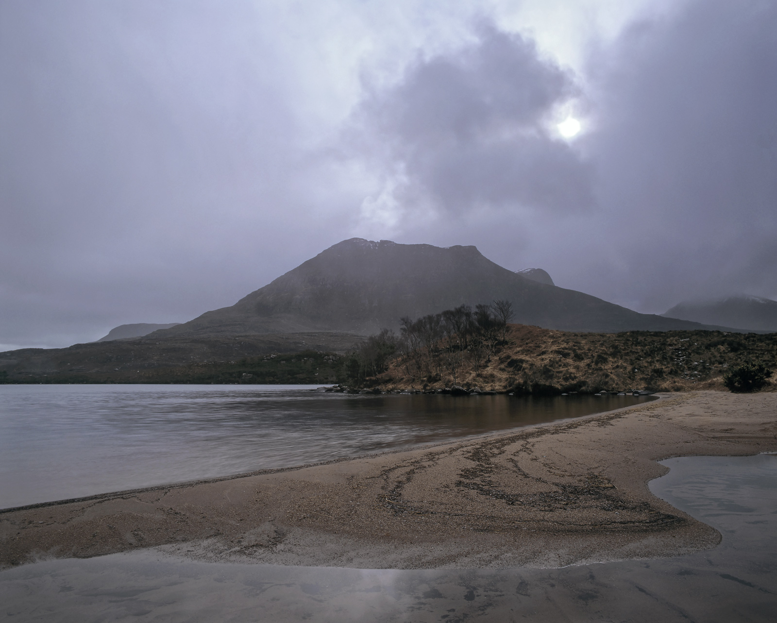 Clearing Shower Lurgainn, Loch Lurgainn, Inverpolly, Scotland, dleet, hail, moody, enchanting, sandy, cove, showers, photo