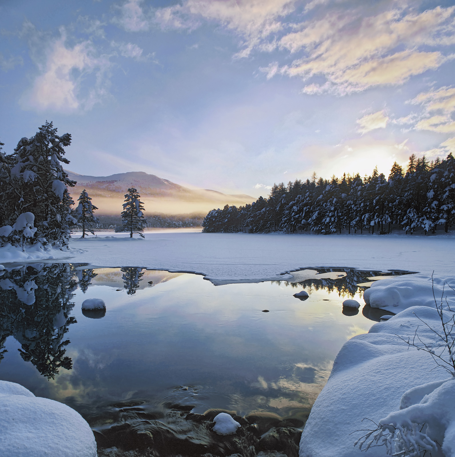 This place at the end of Loch An Eilein in Cairngorm is oft photographed but this is definitely some of the best light and most...