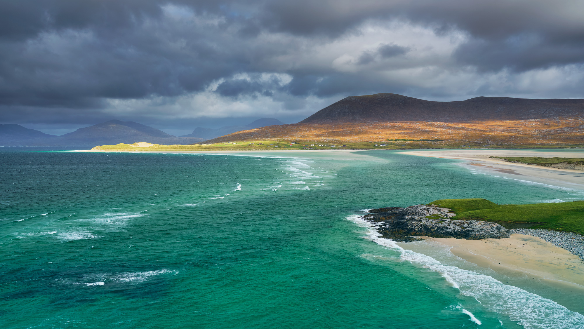 One of the must see viewpoints on Harris overlooking the massive expanse of Luskentyre Bay is this one. Choose the right...