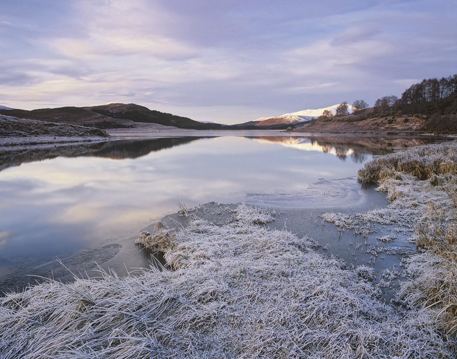 Dawn Reflections Strathbran, Strathbran, Achnasheen, Scotland, favourite, frost, dawn, peak, loch, sky, mirror, reflecti, photo