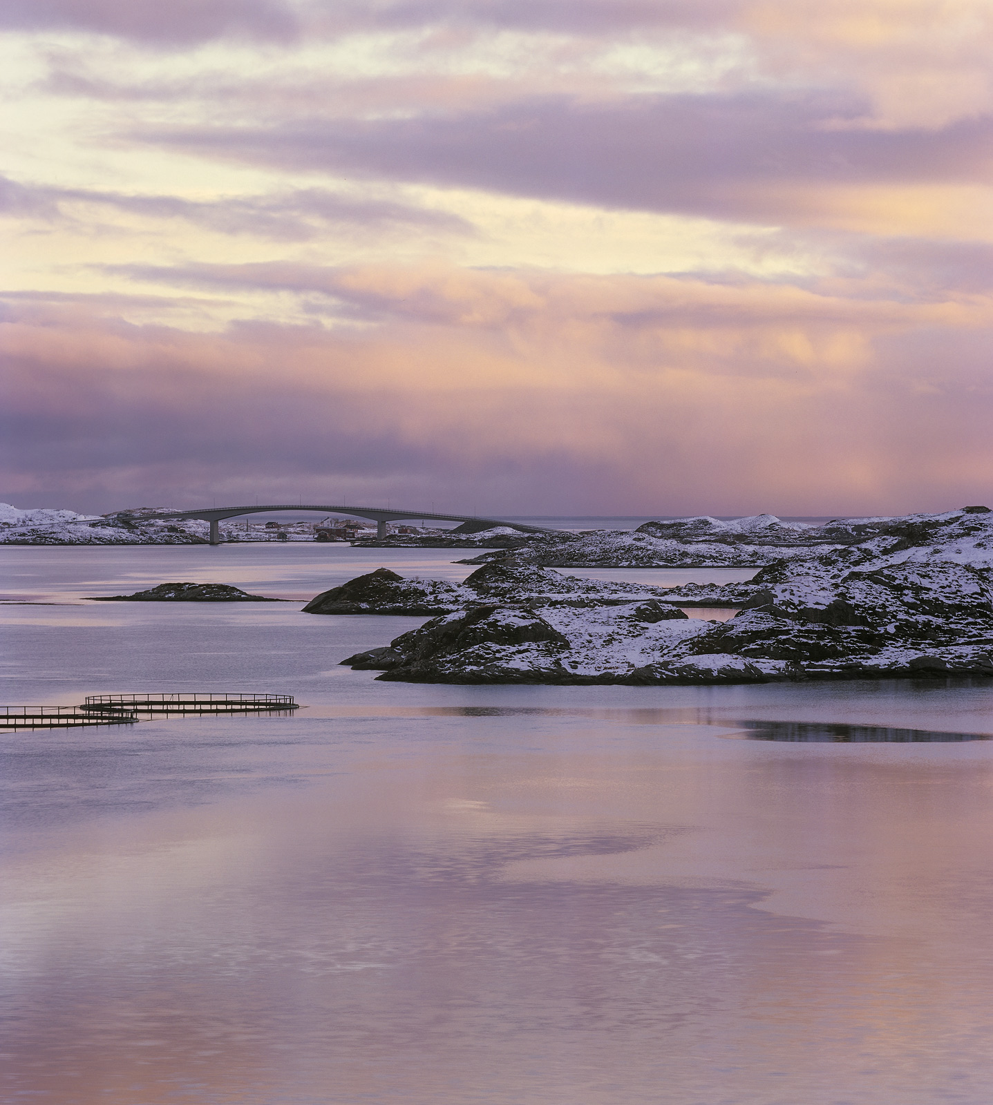 A little after a stunningly colourful sunrise over Selfjord I attached a 300mm lens and instead turned my attention to the distant...