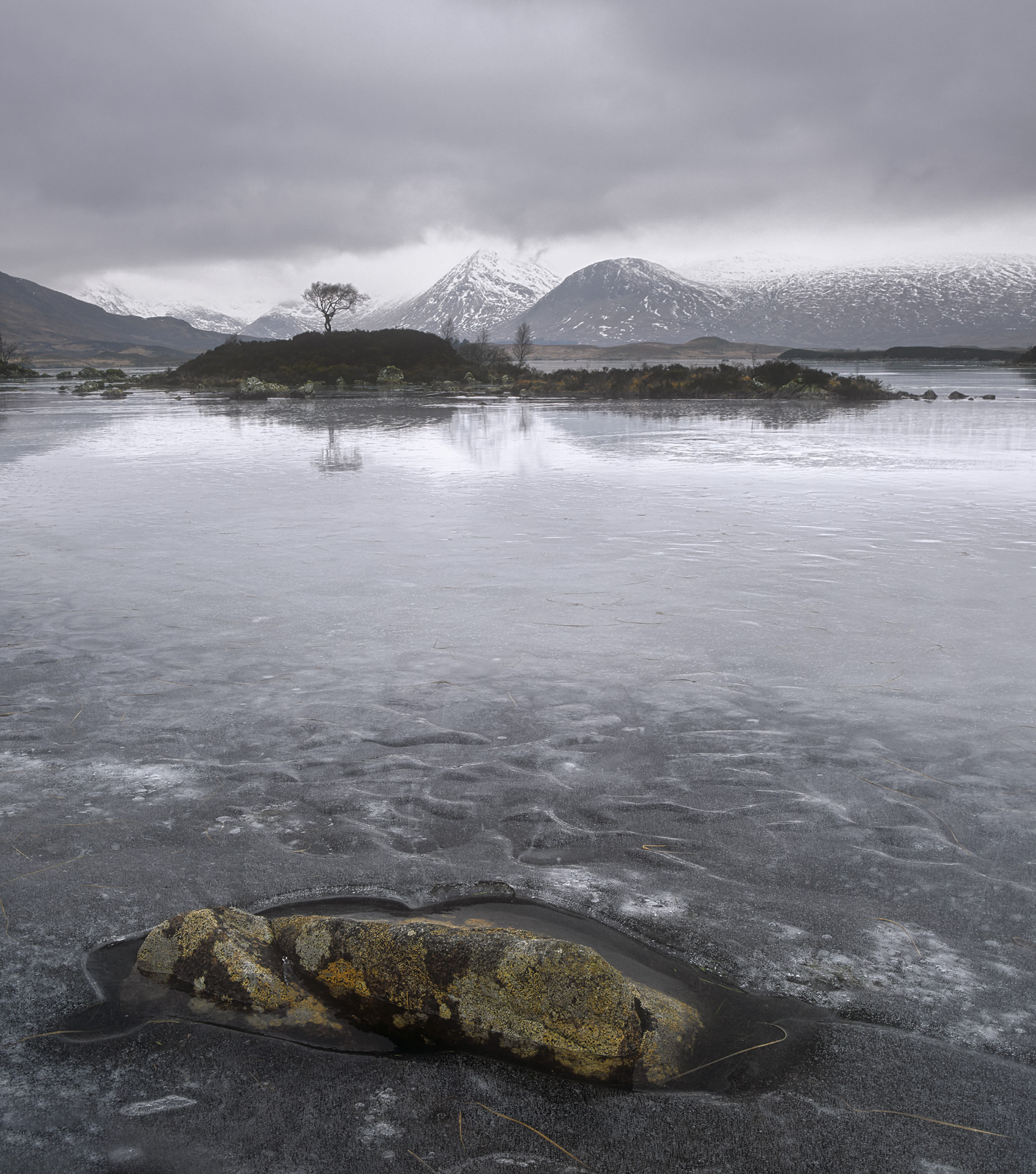 On a dead pan grey windless winter day I assisted another photographer with shots around Rannoch moor. On the face of it...