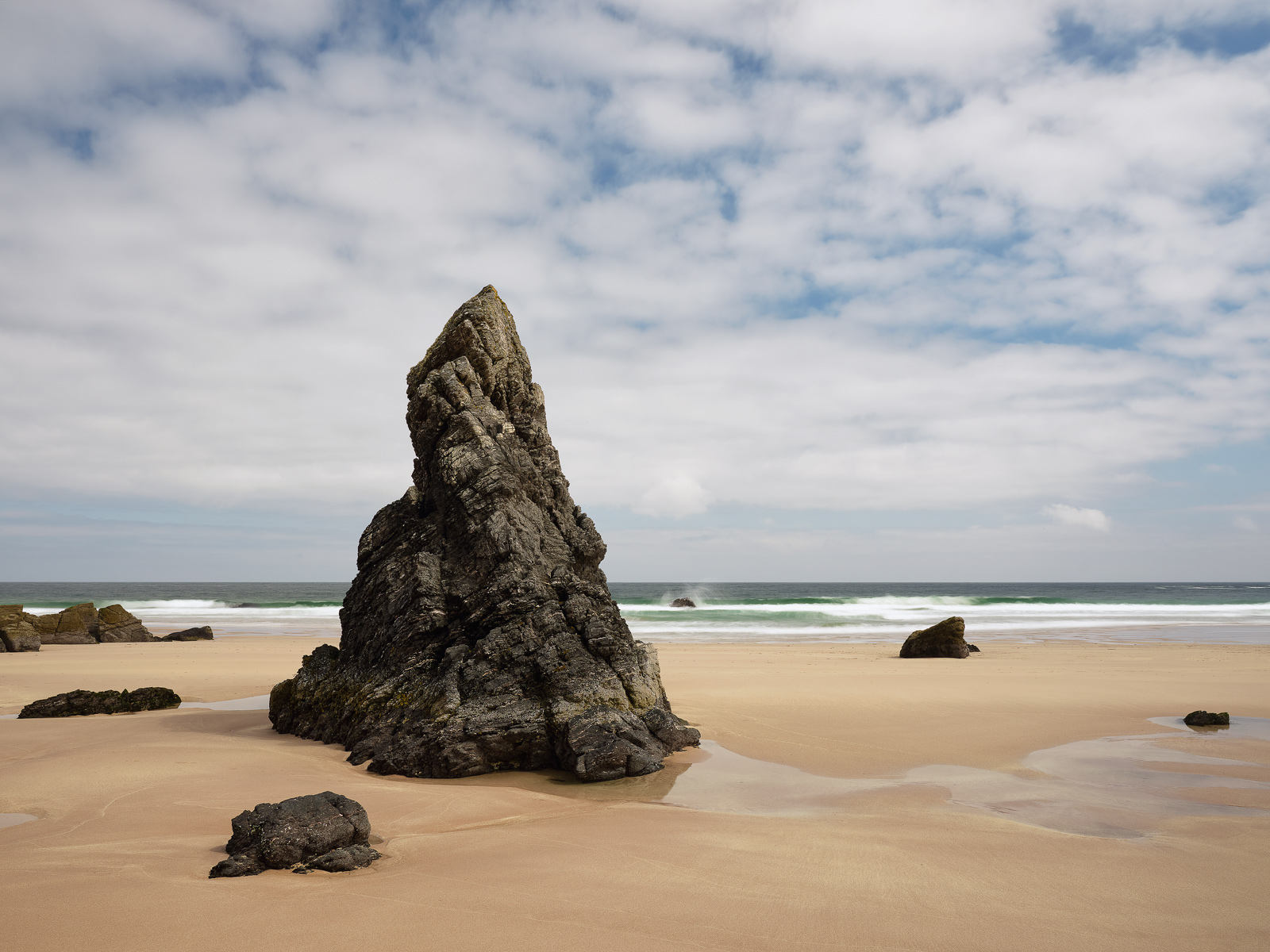 A conical rock stack at Sango Bay looks just like the one Harry Potter tried on when sorting out his House at Hogwarts.