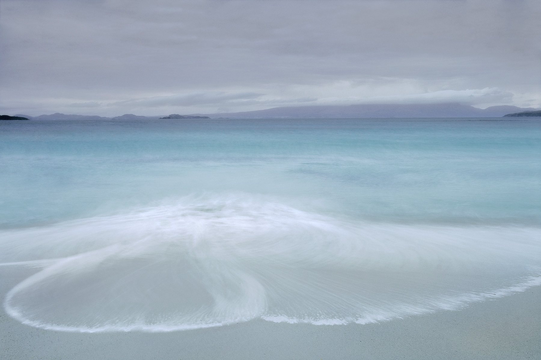 Hypnotised by the gently rolling waves from a turquoise sea at Mellon Udrigle I delighted in the ever changing ebb and flow patterns...