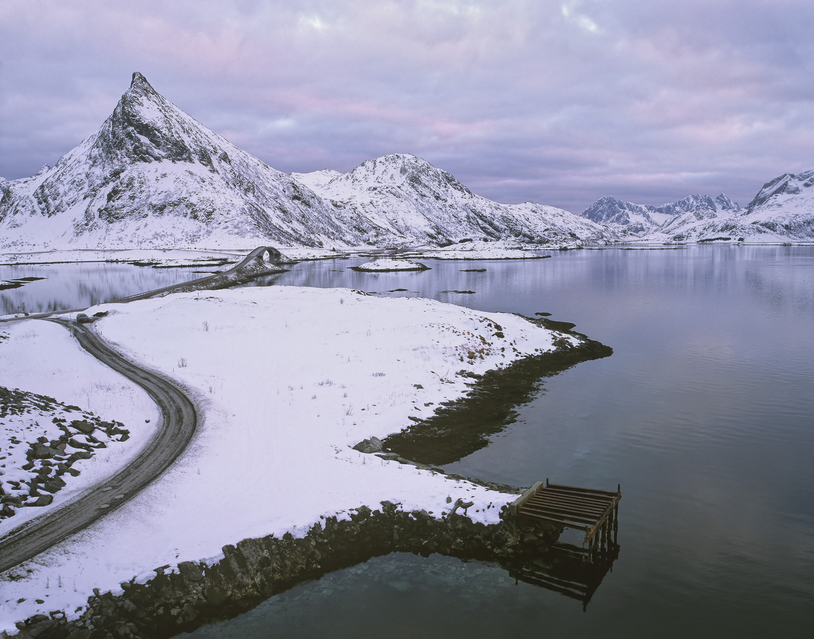 At the head of my favourite fjord on Lofoten namely Selfjord is a connecting road that spans it via two very elegantly sculpted...