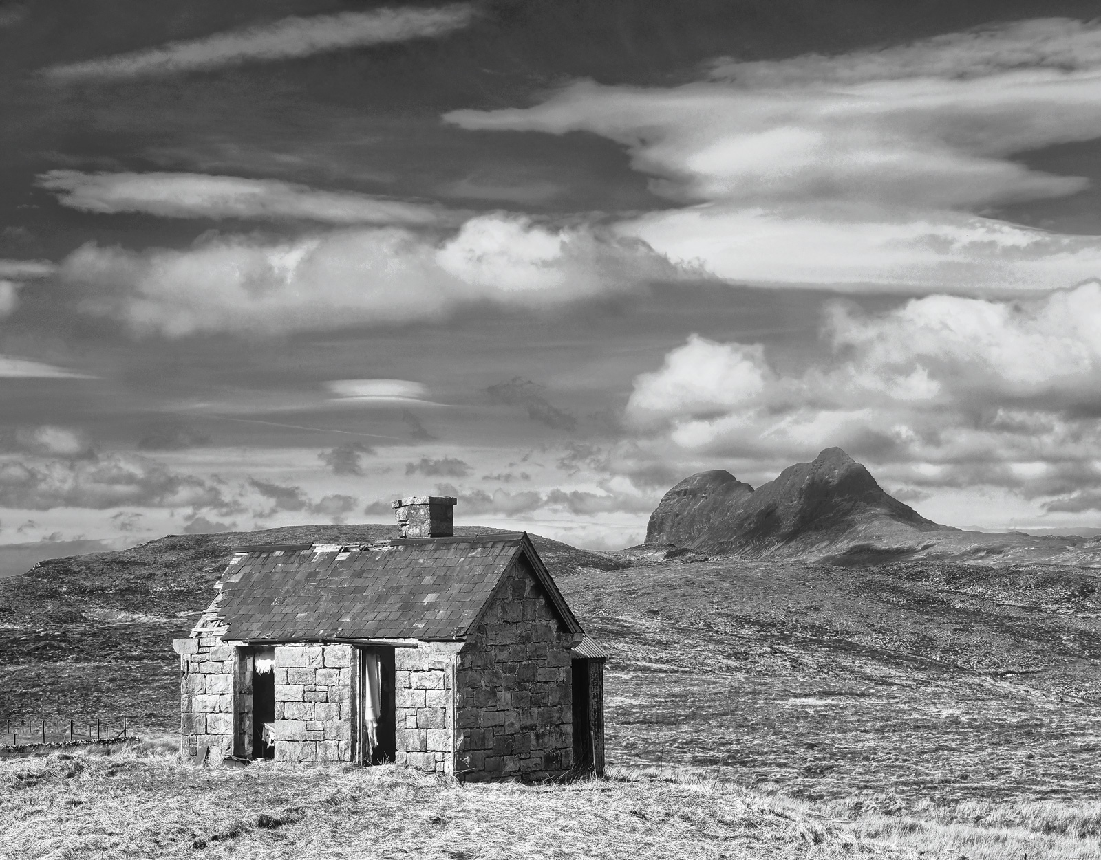 A lovely wee fairytale bothy with tattered curtains idly flapping in a Spring breeze, but the view is a million dollars.&nbsp...