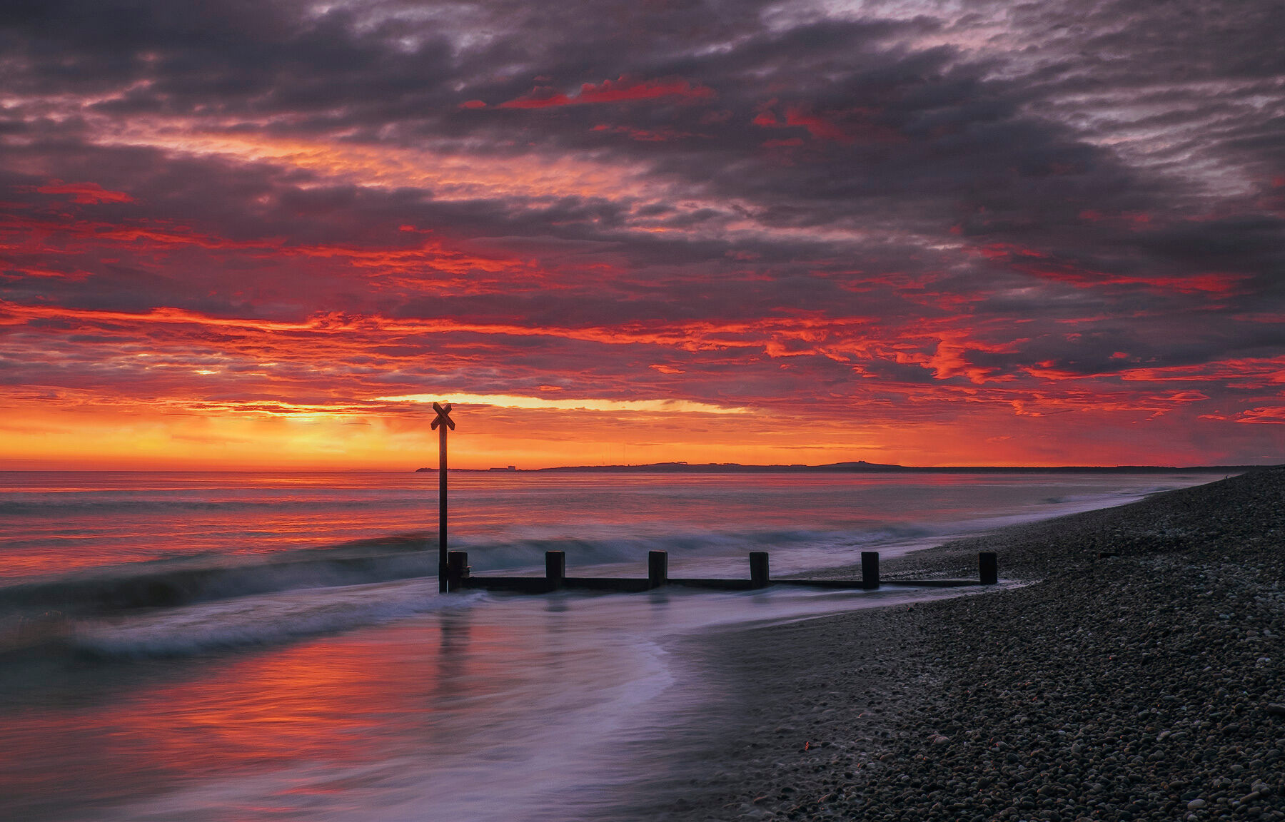 This was far and away the most intense sunrise I have seen all year and I am pleased to say I had an inkling it would happen...