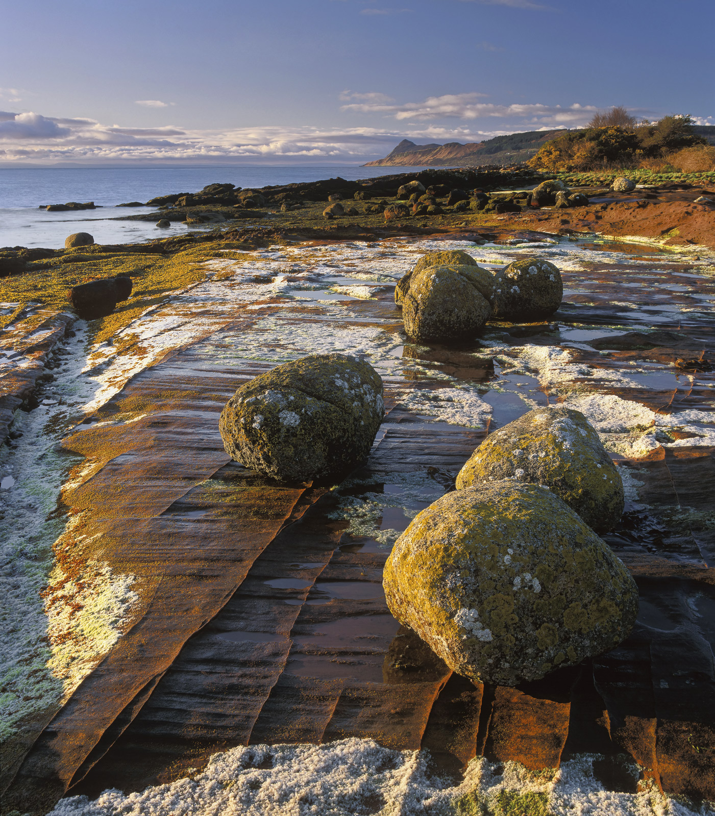 Close to the tiny west coast town of Corrie on Arran are a couple of quiet insignificant looking beaches with the most vividly...