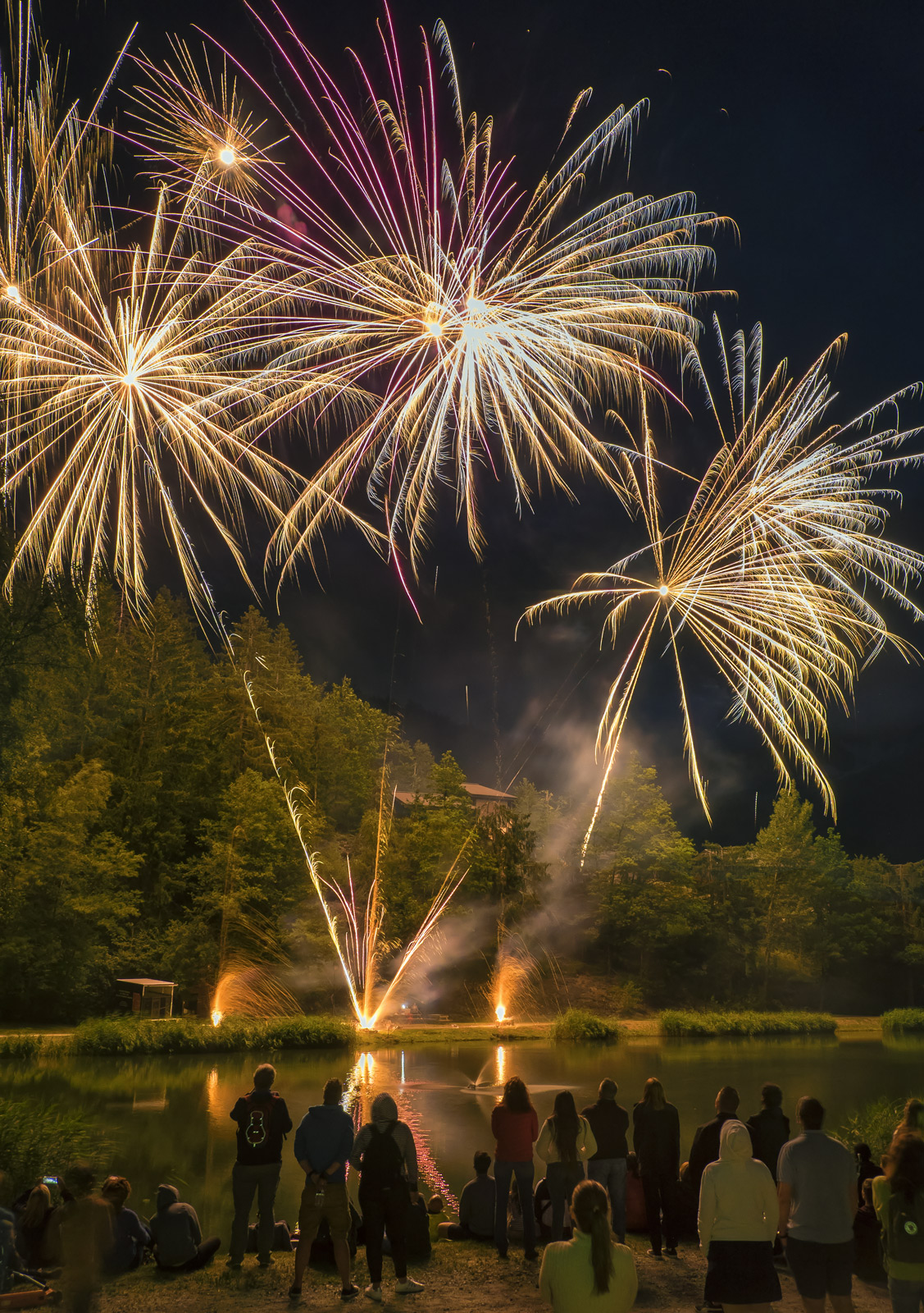 On Bastille day just about every local town and village in France celebrates by having a firework display.  It seems though that...