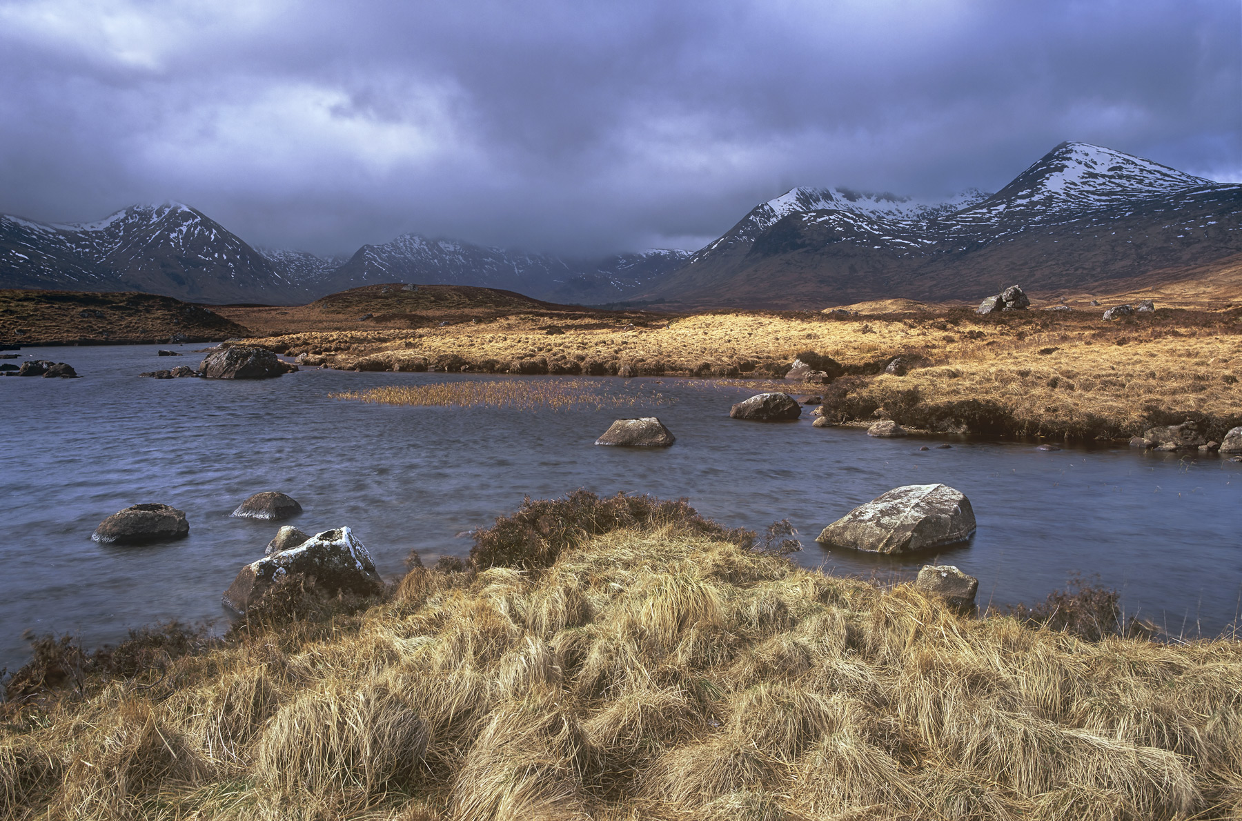 Constant rainstorms whipped their way across Rannoch moor every few seconds stopping and starting at intervals of twenty seconds...