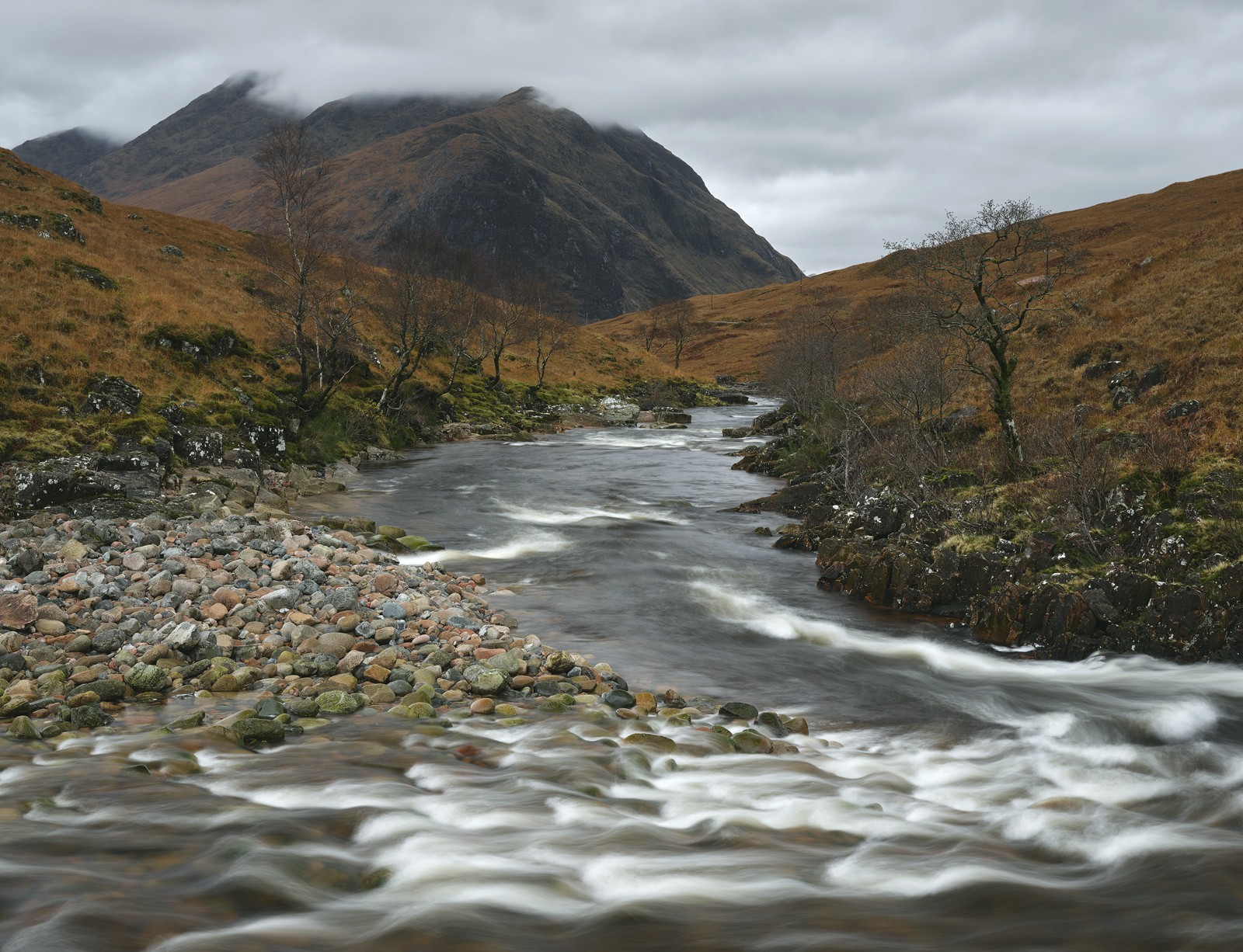 I really like this bend in the river Etive just after the water thunders over a ten foot cascade and swoops around the corner...
