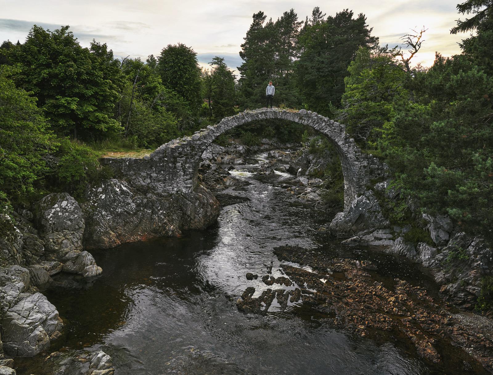 Fragile Carrbridge, Carrbridge, Highland, Scotland, stone, gorge, foliage, summer, bridge, photo
