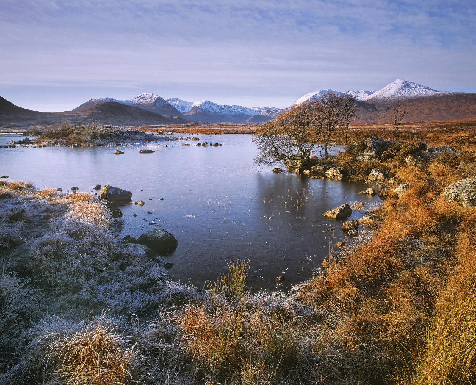 A daylight, morning shot of one of my favourite locations at Rannoch Moor. It still had the crisp borders of frost around...