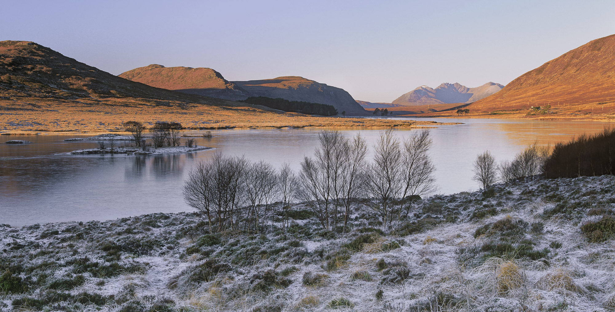 At around a 1000 feet Loch Droma is pretty high and often frozen in the winter months. This though was an early November...