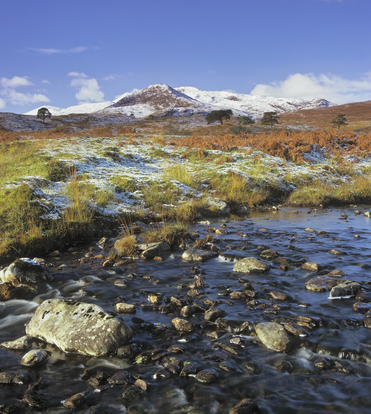 Glen Strathfarrar, Strathfarrar, Highland, Scotland, glen, beautiful, winter, autumn, river, scots pine, stones, sumptuo, photo