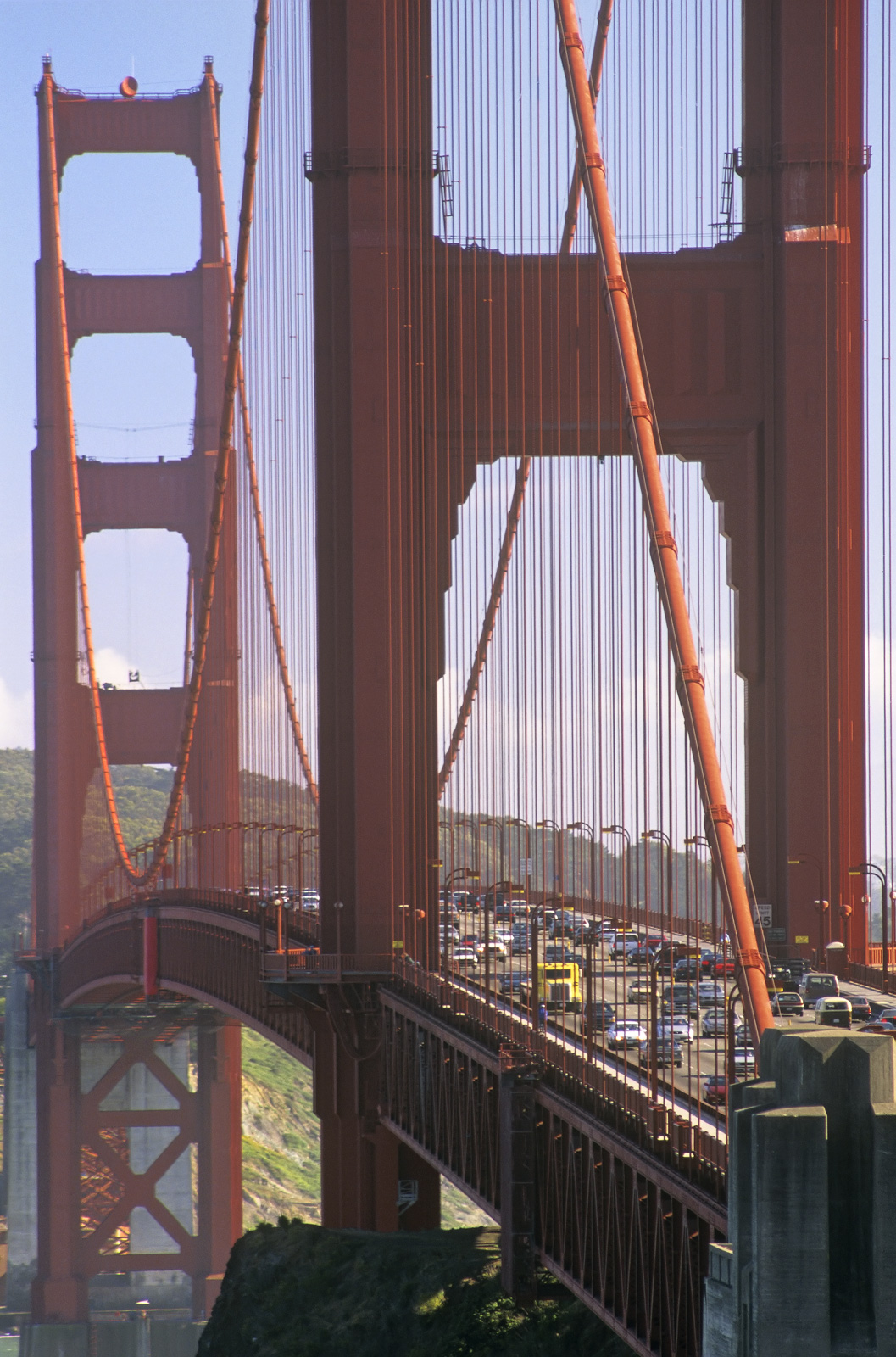 I used a long lens to compress the length of the Golden Gate Bridge which just allowed me to fit the two towers that span the...