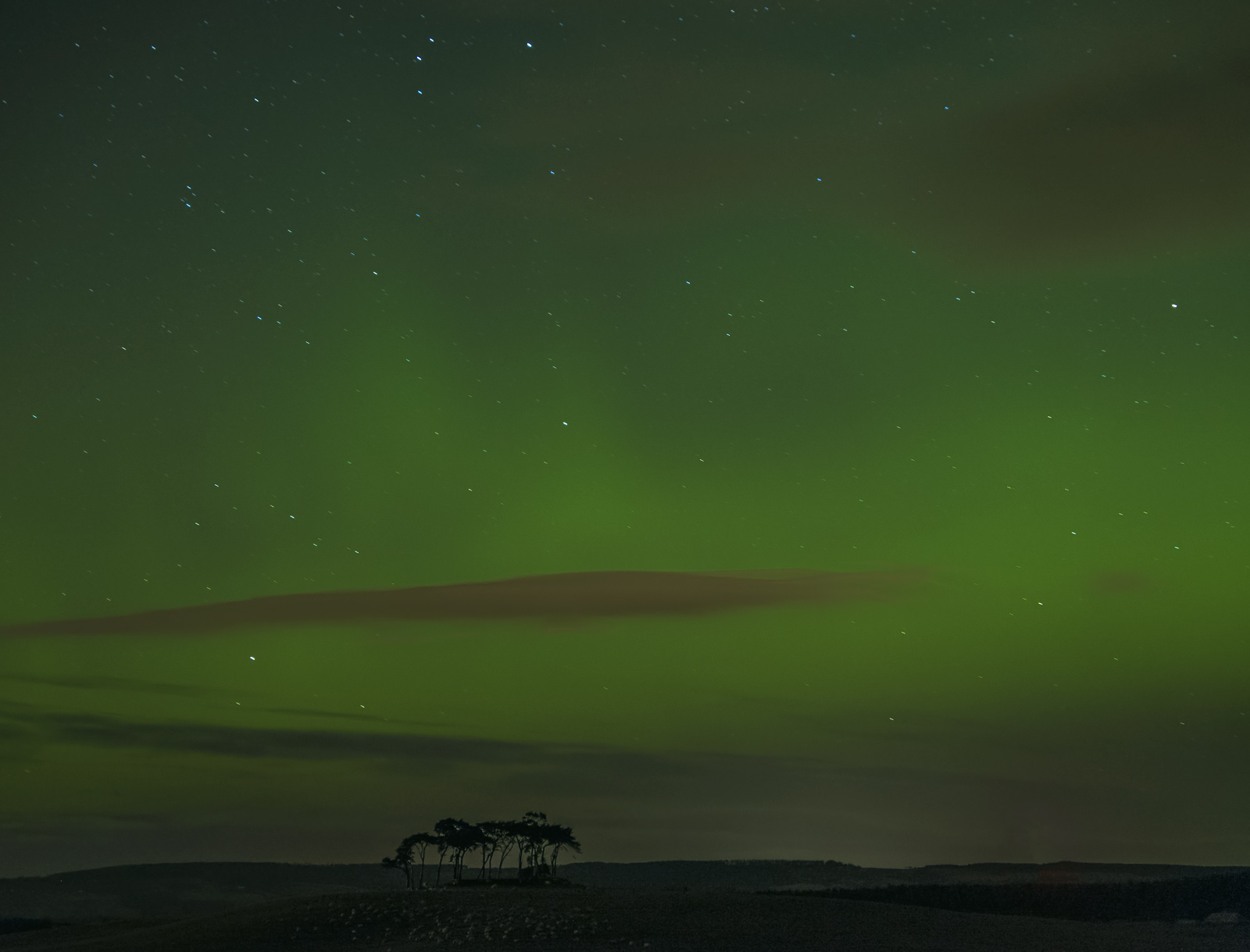 At 11.20pm on the same winter evening as the coastal auroras there was supposed to be a second surge in solar activity and hence...