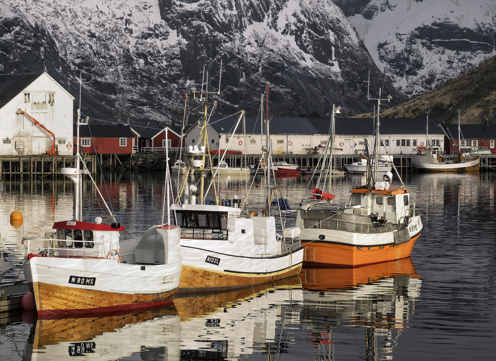 It is unlikely that there is a more picturesque harbour anywhere else in the world than little Hamnoy in the Lofoten Islands...