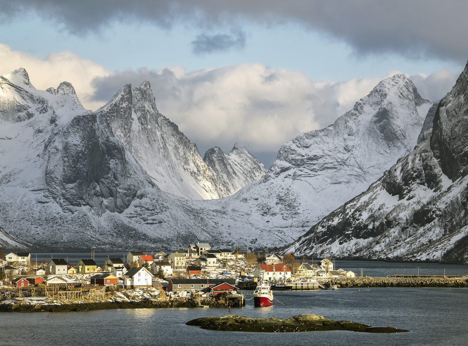 Reine has surely got to be one of the most beautiful of any in the world. Surrounded by fantastic shapely mountains and...