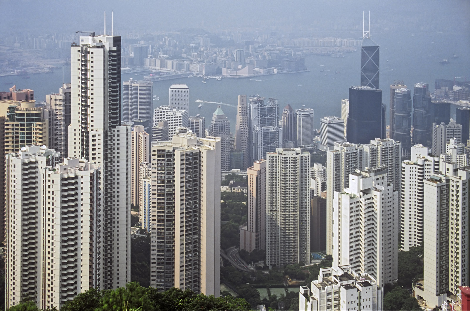 Its pretty rare that the Peak overlooking the city of Hong Kong is clear enough to get this elevated view. The slight haze probably...