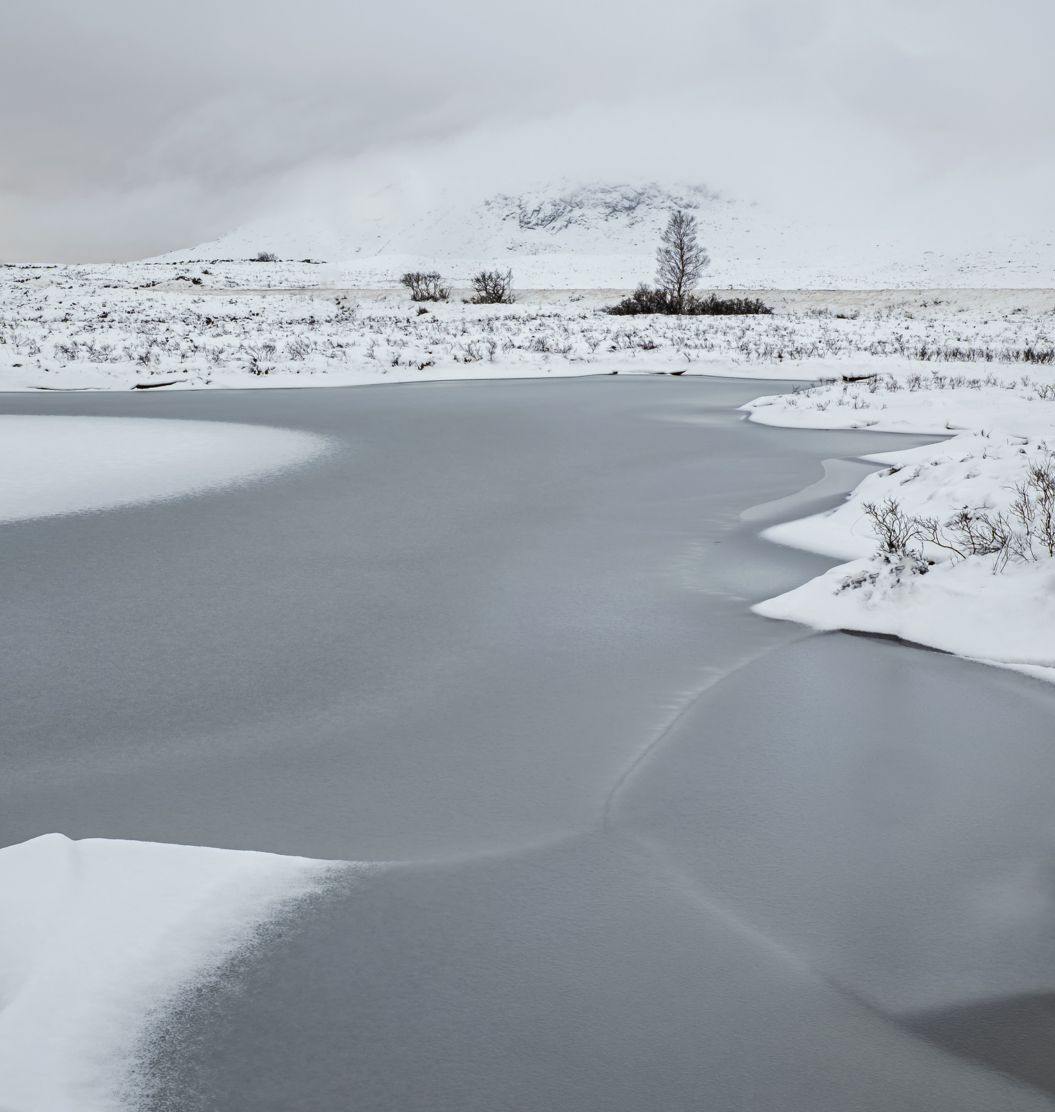 Rannoch Moor is a bleak place at the best of times, but in the winter after a blanket of thick new snow has fallen it is a winter...