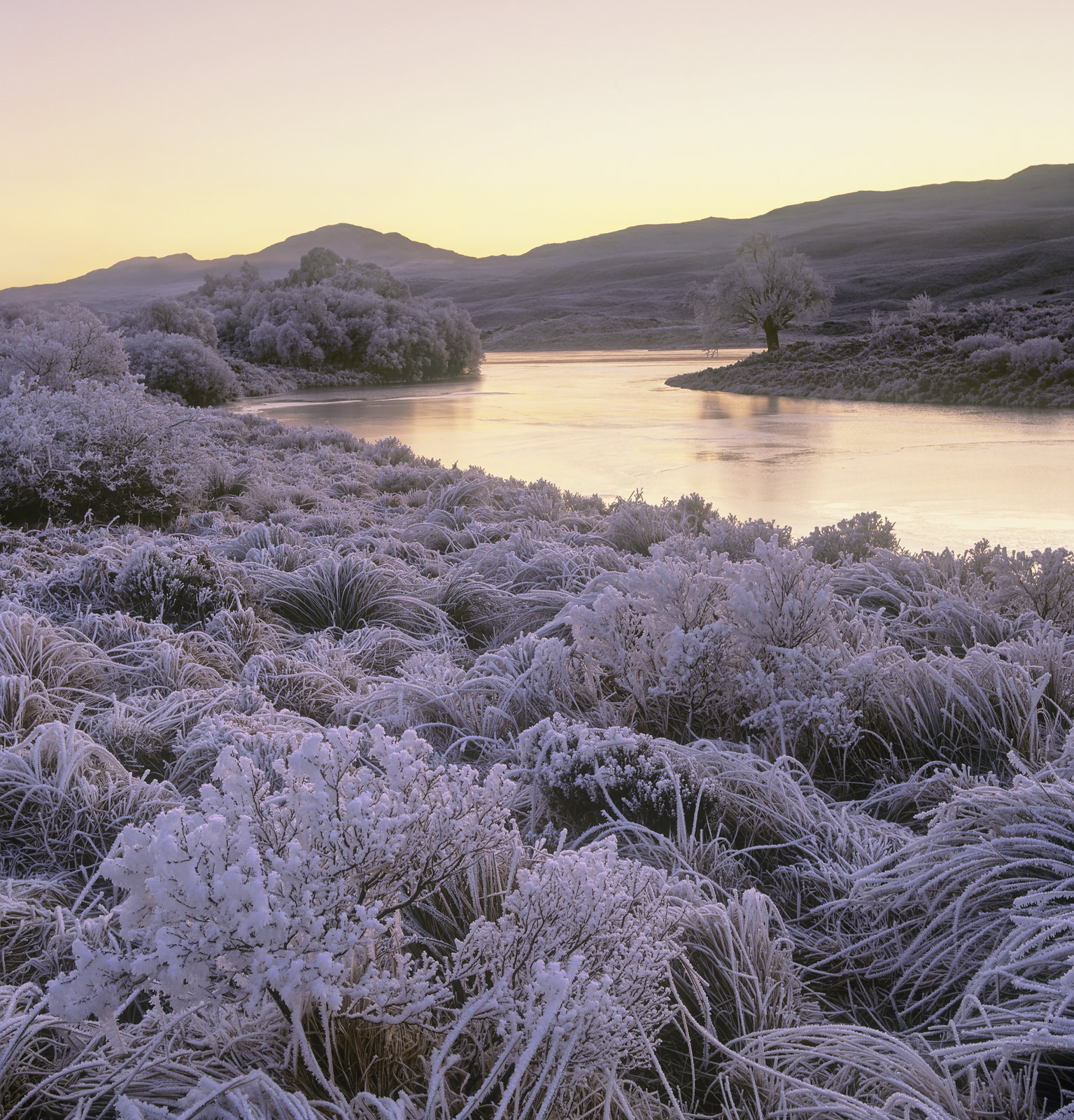 Such a beautiful heavy hoar frost the like of which I had never seen before. I arrived at Loch Achanalt before sunrise...