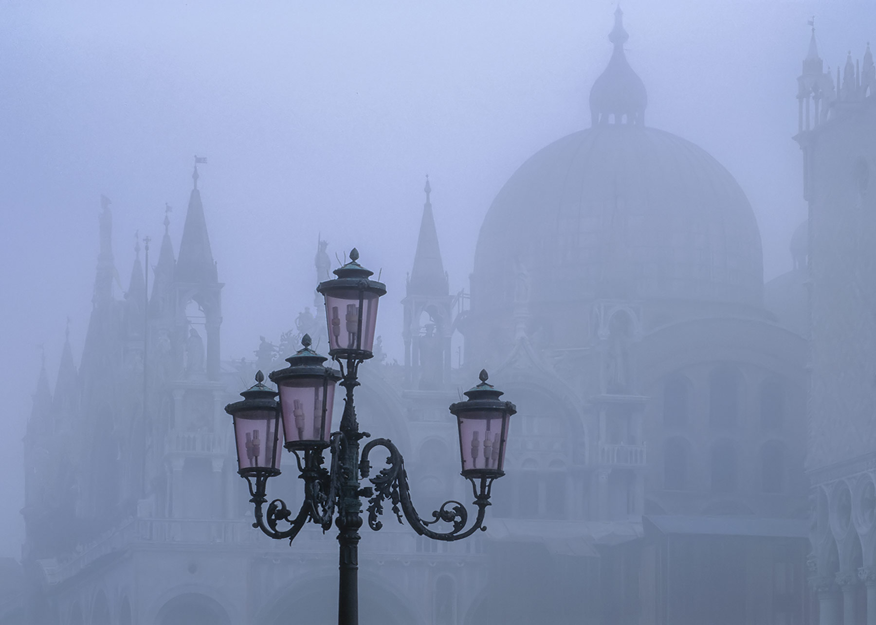 October brings mist to Venice especially first thing in the morning where a deserted St Marks Square becomes about as atmospheric...
