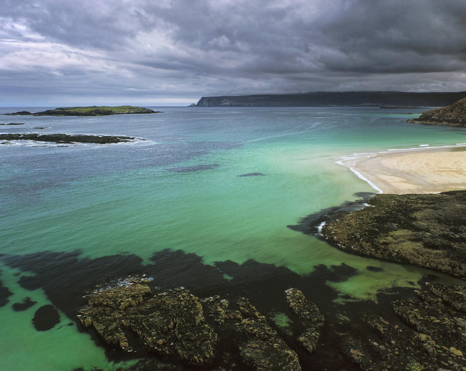 Jade lagoon Sutherland, Little Sango Bay, Sutherland, Scotland, tides, reflected, colour, luminosity, epic, sandy beach , photo
