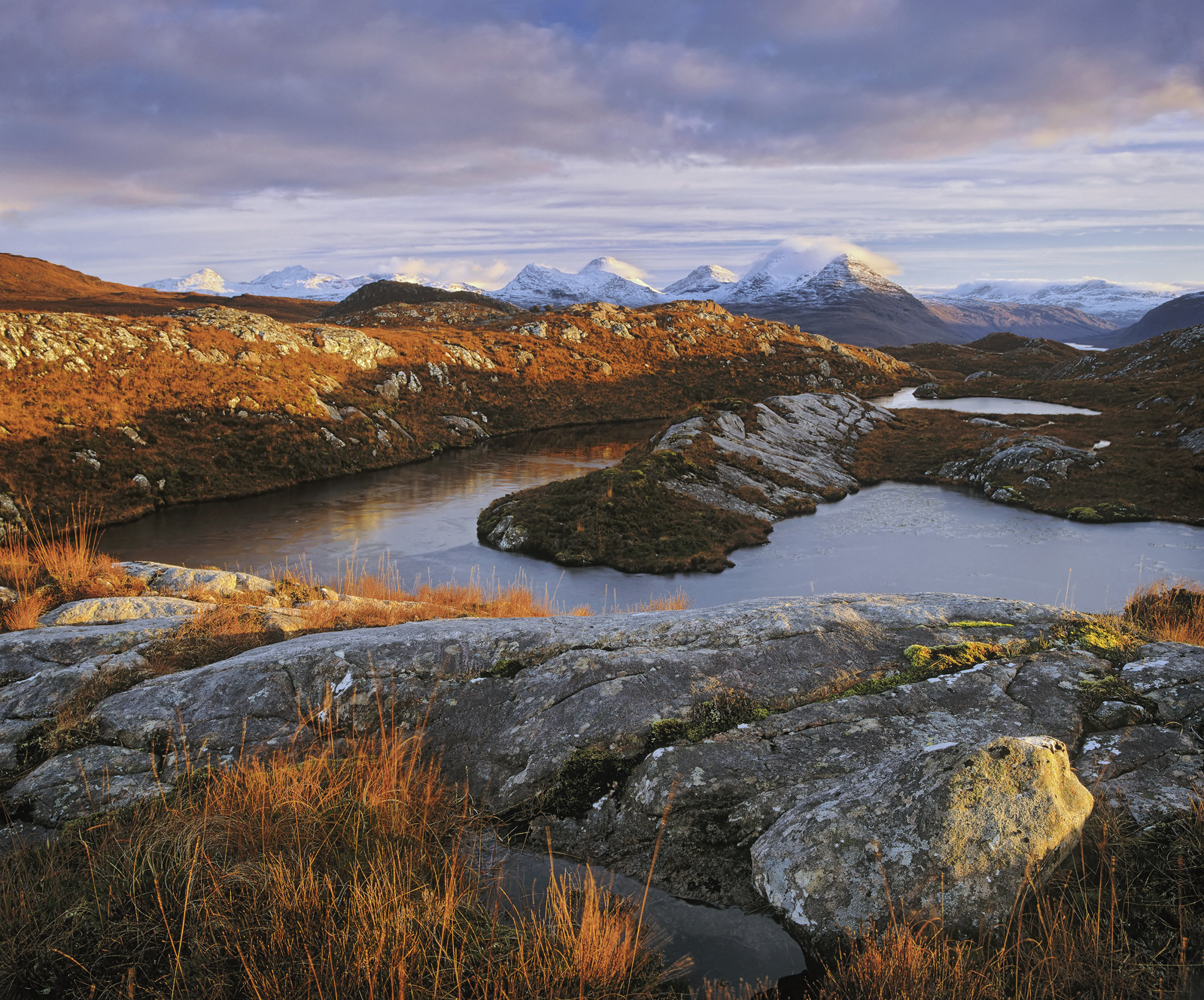 Jaws of Torridon, Diabaig, Torridon, Scotland, jagged, blue, teeth, snow, mountains, deer grass, moorland, lochan, tongu, photo