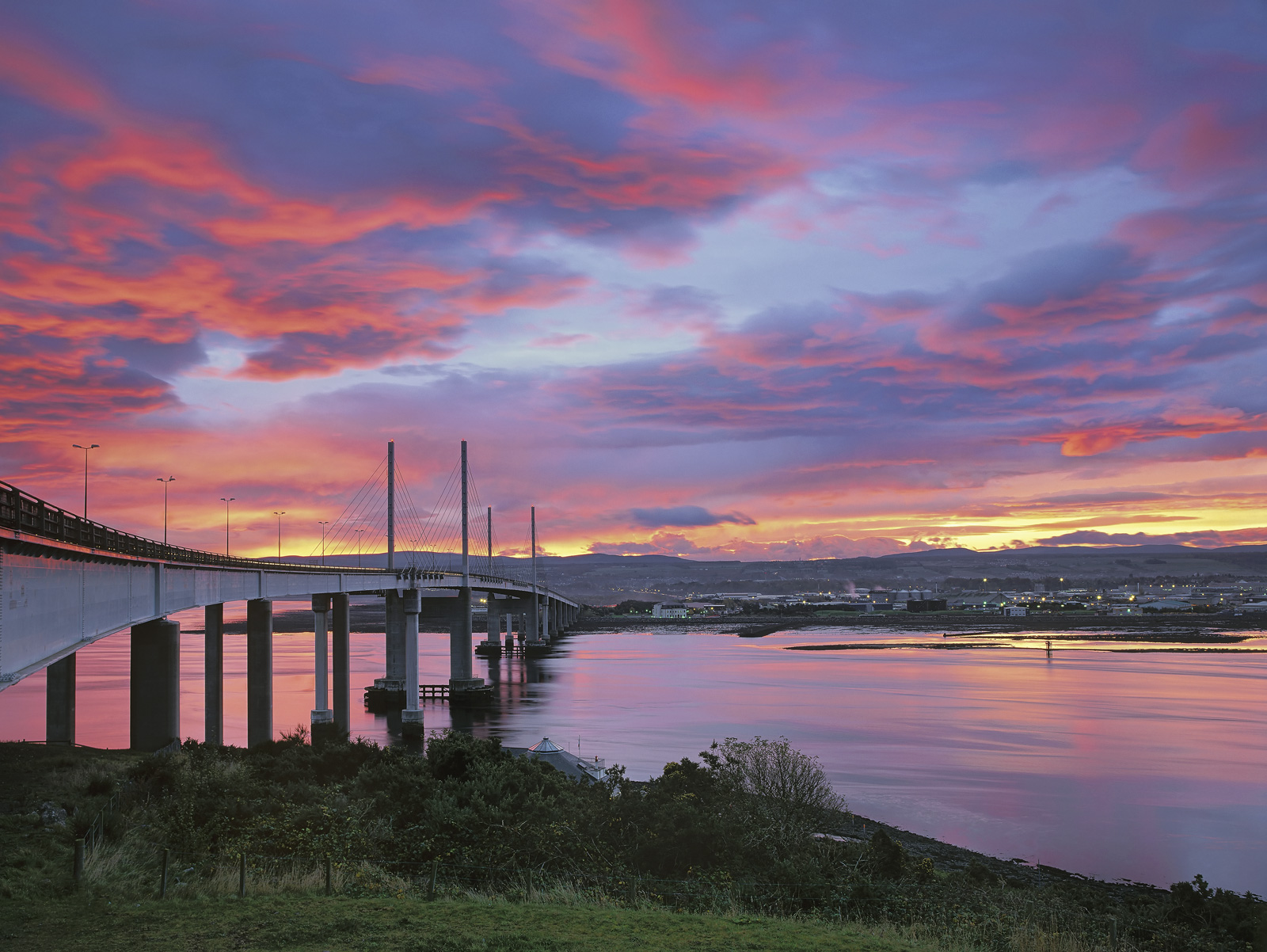 The sky burned with unbelievable colour and intensity one evening as I approached Inverness and I immediately decided to pull...