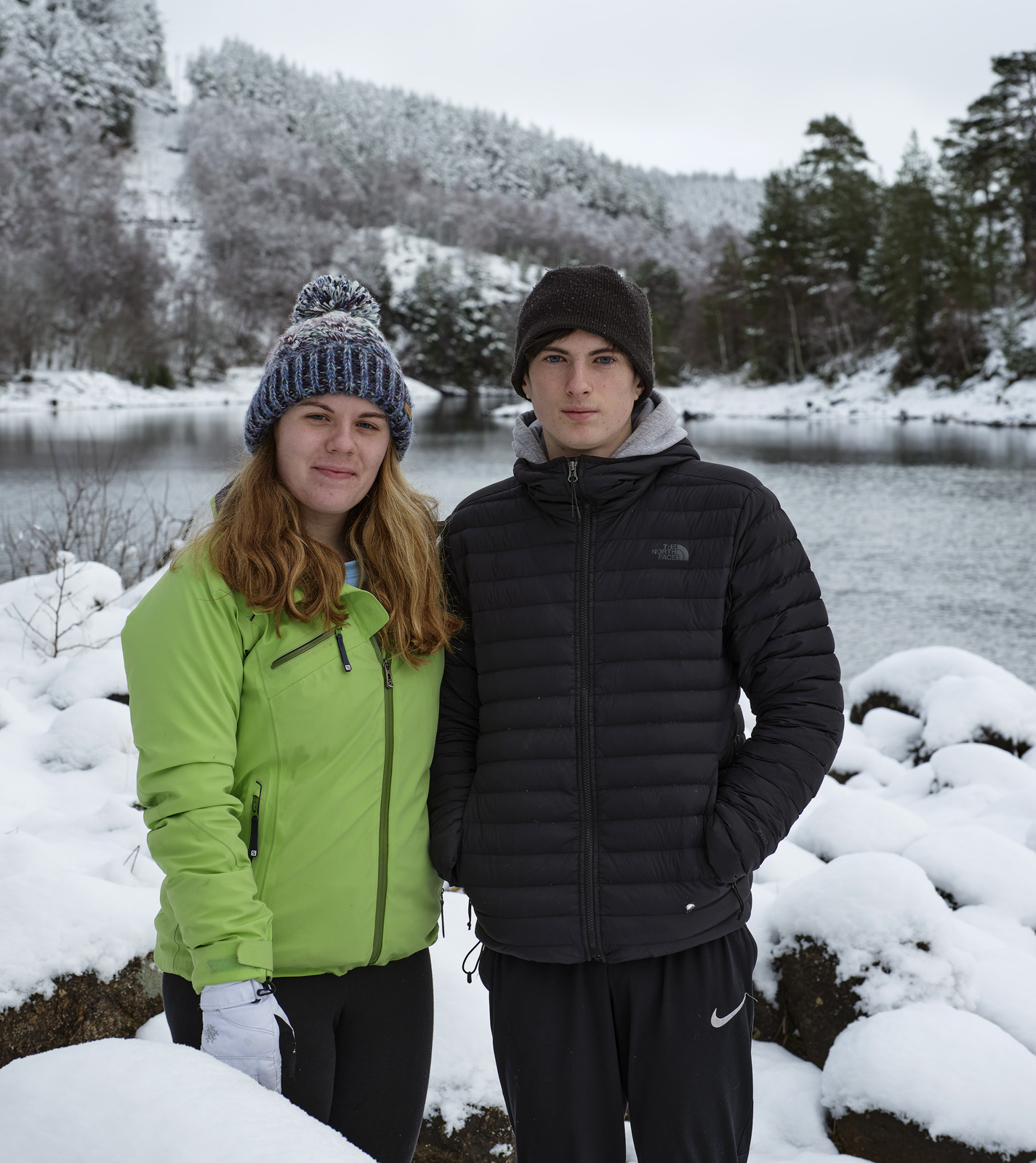 My son and daughter Ben and Lauren out for a day of sledging and walking at Glen Affric in oodles of fresh snow.  Glen Affric...
