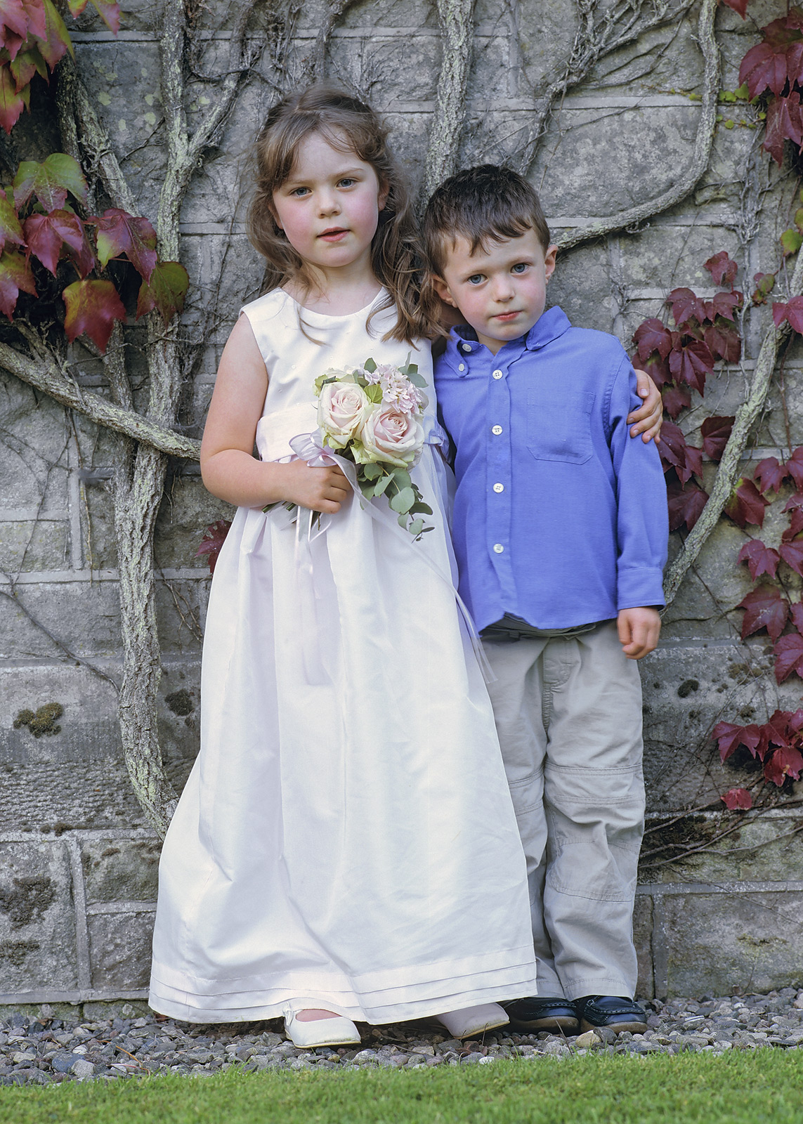 Although Ben was a little too young to be a Page Boy my daughter Lauren was just about old enough to be a bridesmaid at a friends...